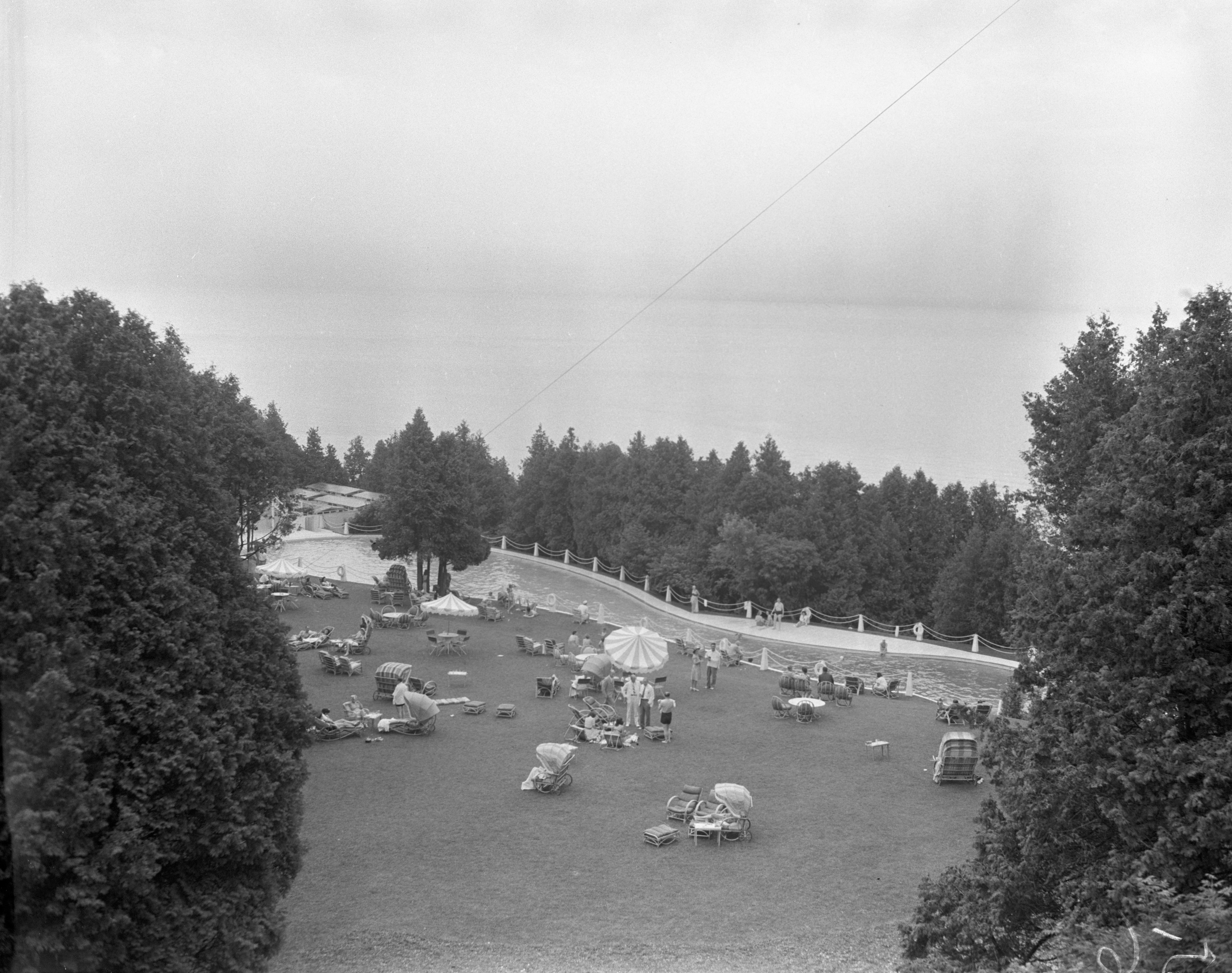 View Of A Pool On Mackinac Island image
