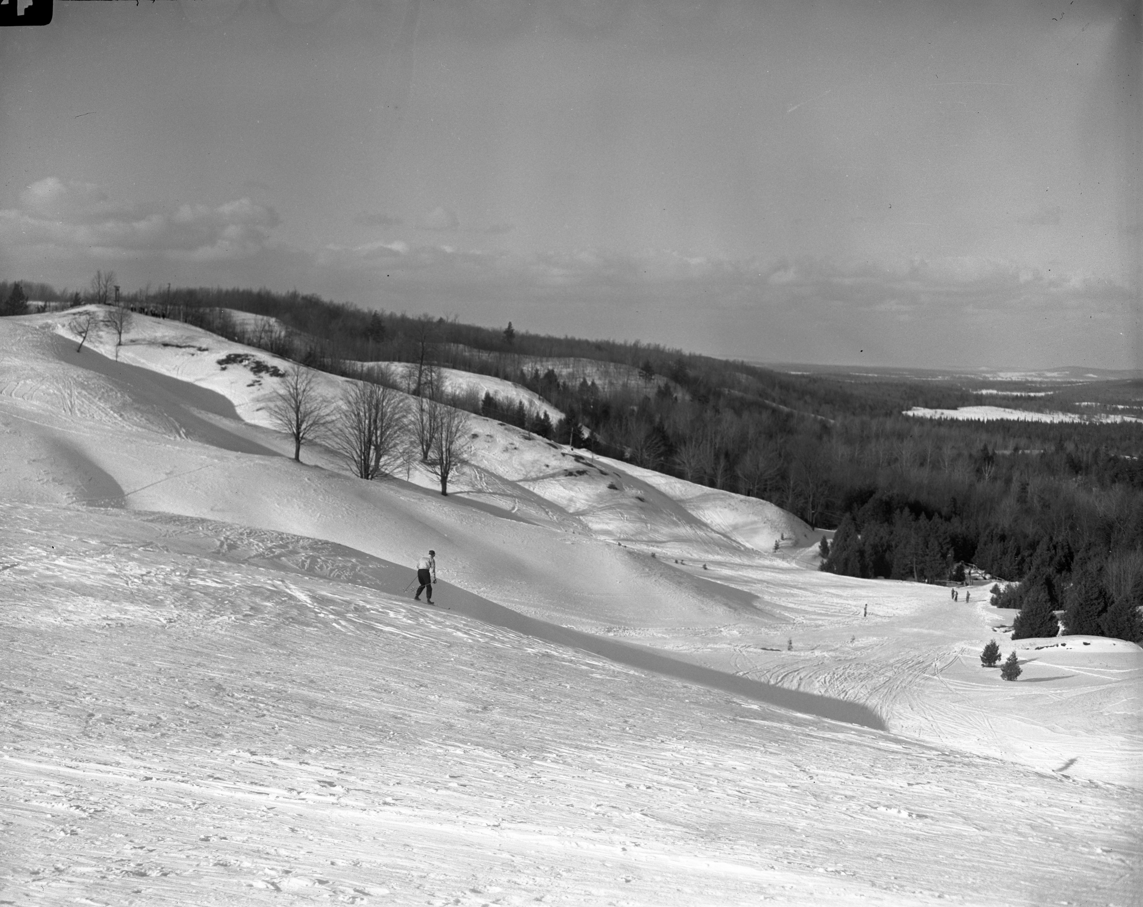 Skier At The Otsego Club In Gaylord, February 1946 image