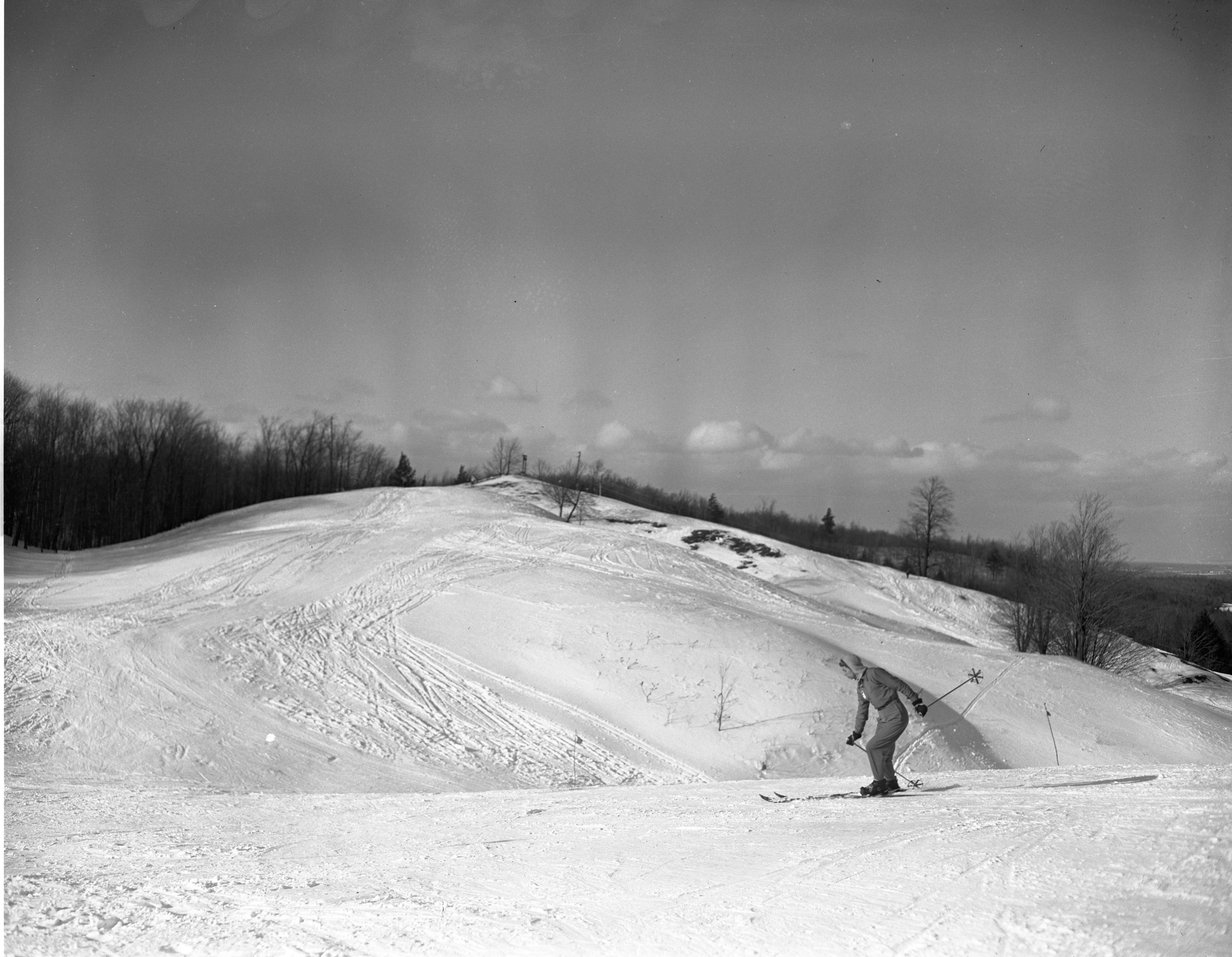 Stephanie Almon Skiing At The Otsego Club In Gaylord, February 1946 image