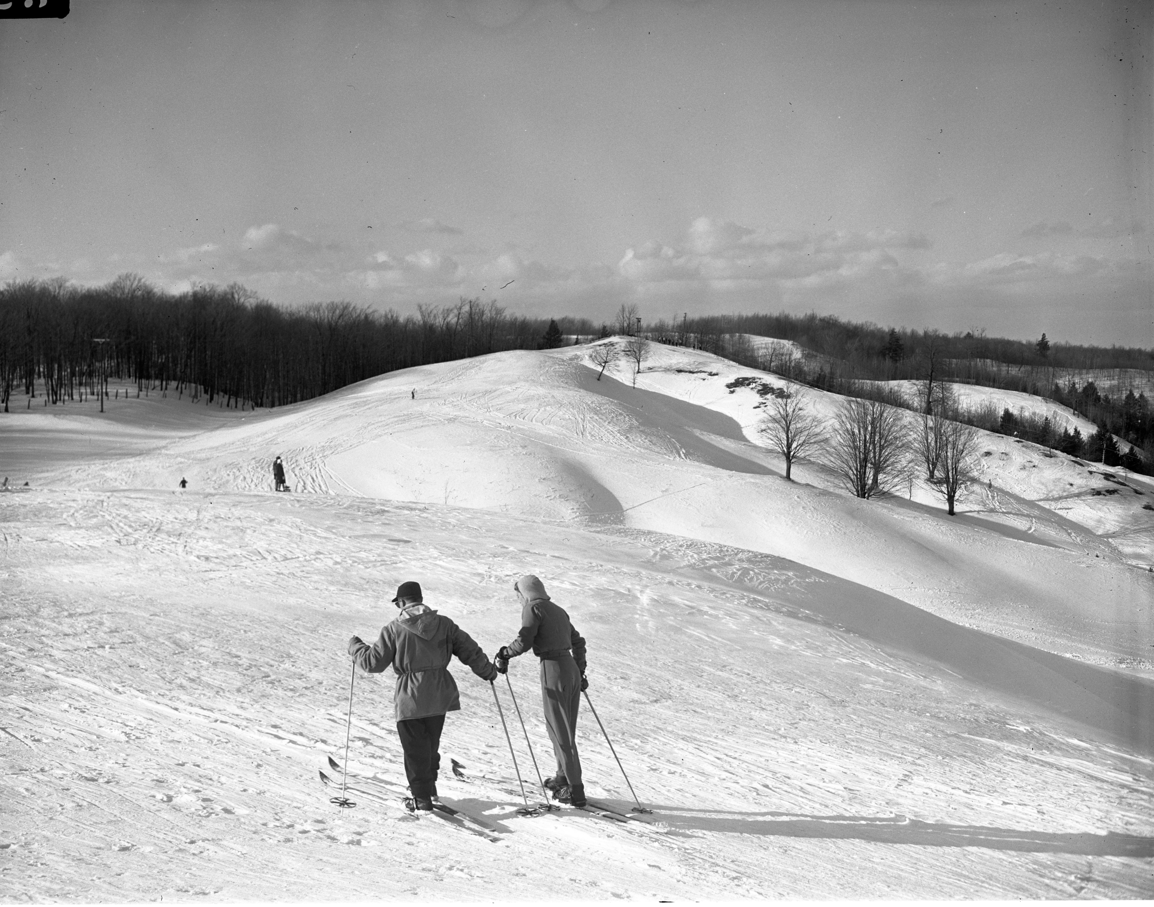 Alain And Stephanie Almon Skiing At The Otsego Club In Gaylord, February 1946 image