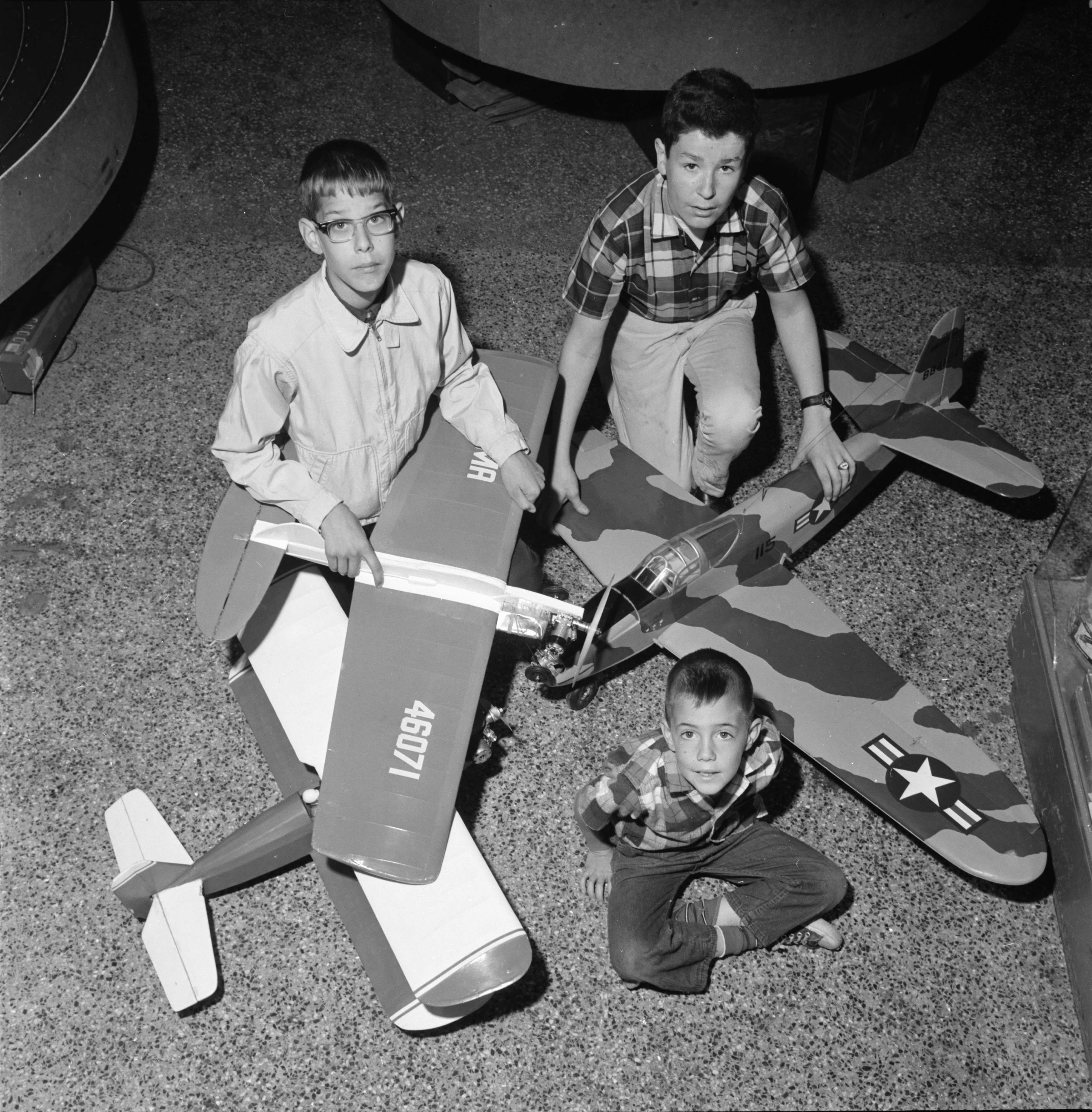 Youths Display Their Model Airplanes For Annual Contest, June 1966 image