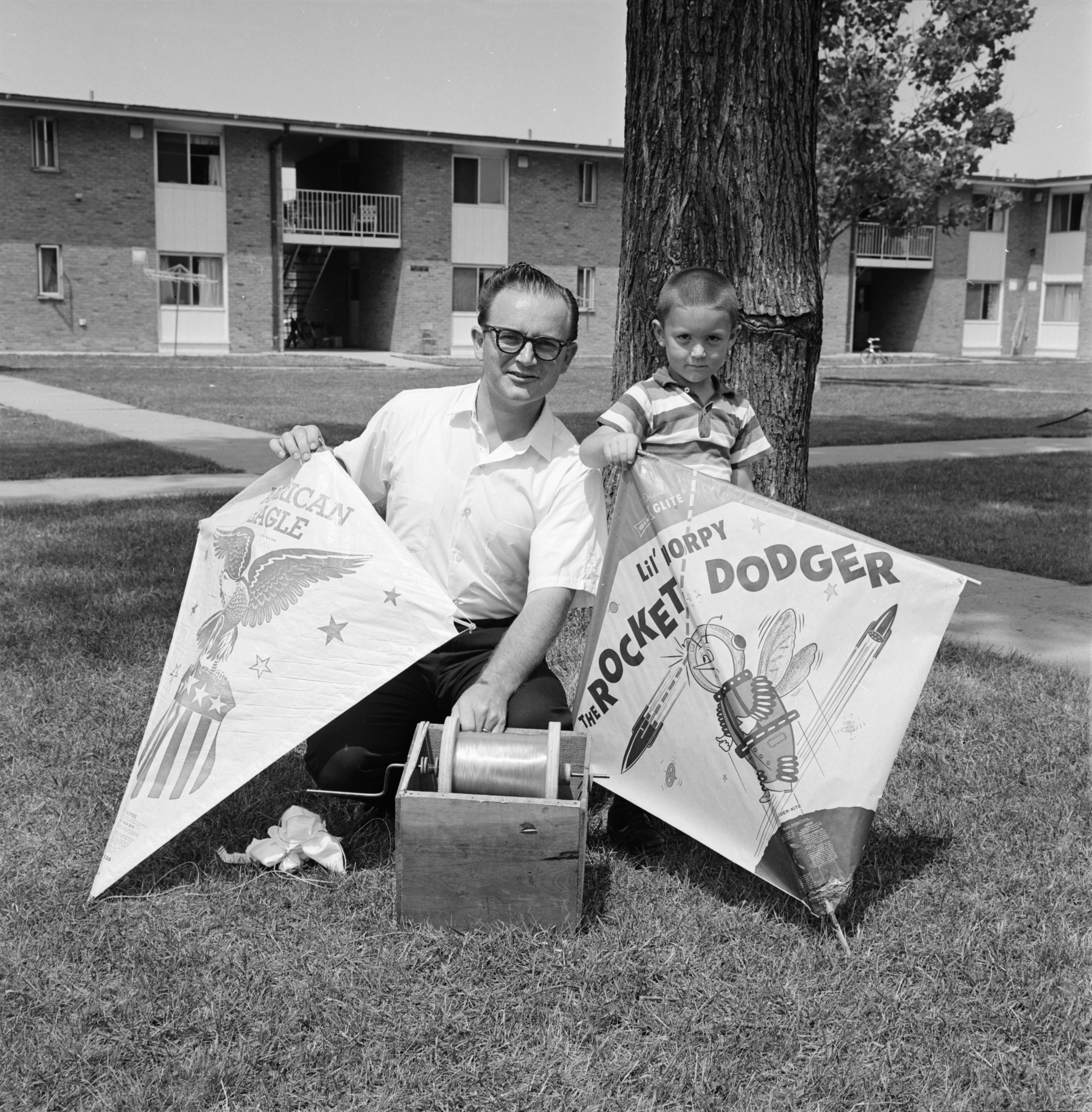 World Record Holder Phillip Kunz With His Kites, July 1966 image