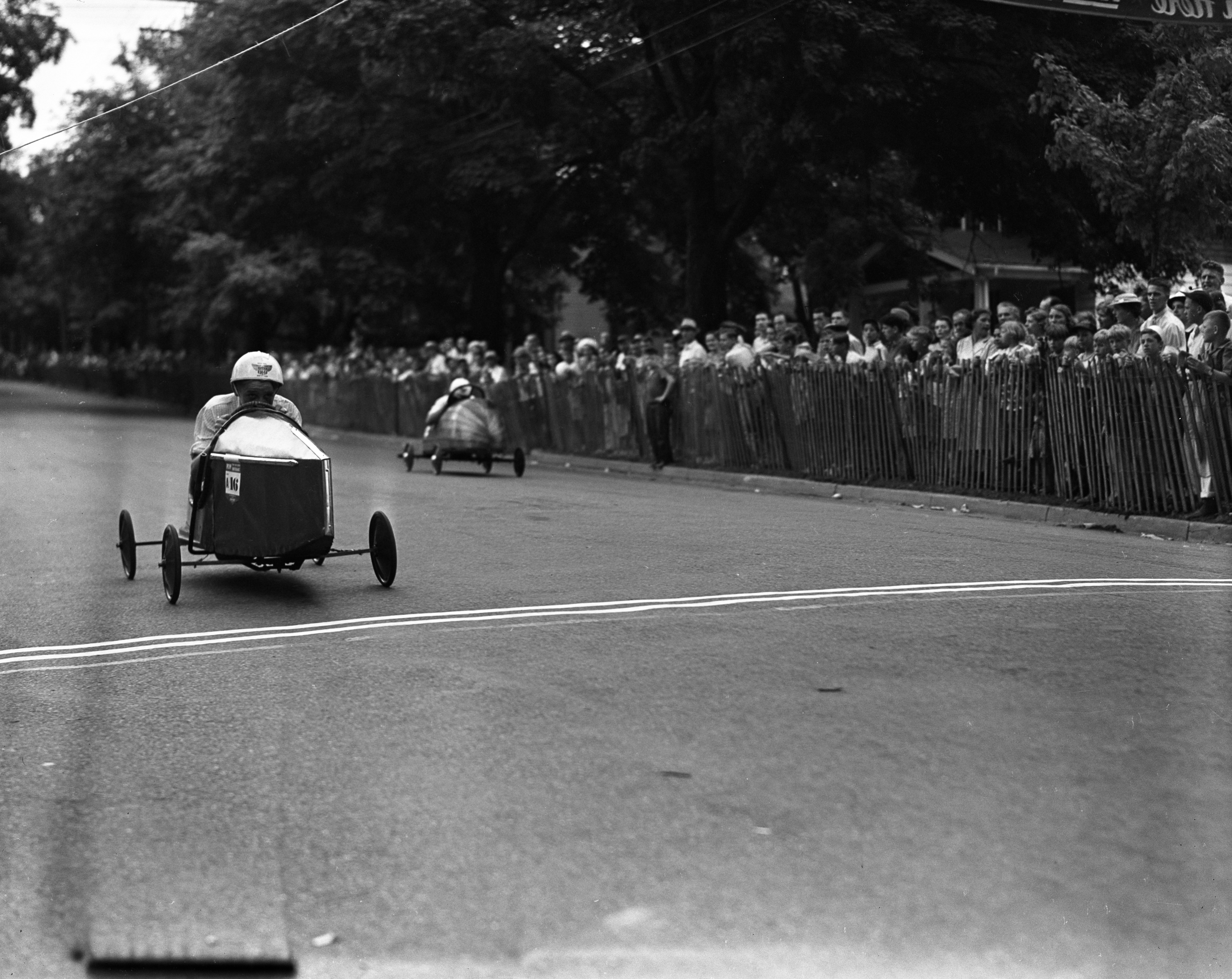 Soap Box Derby Finish Line, July 1939 image
