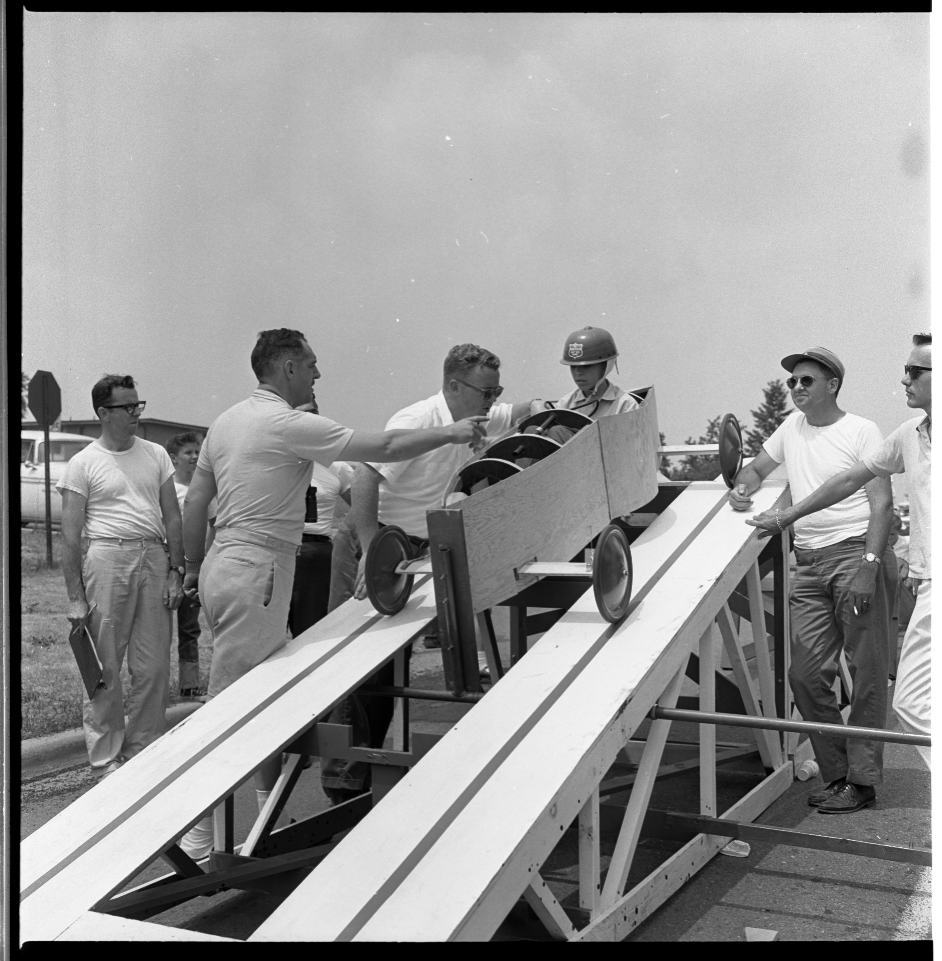 Soap Box Derby Practice Run, July 1963 image
