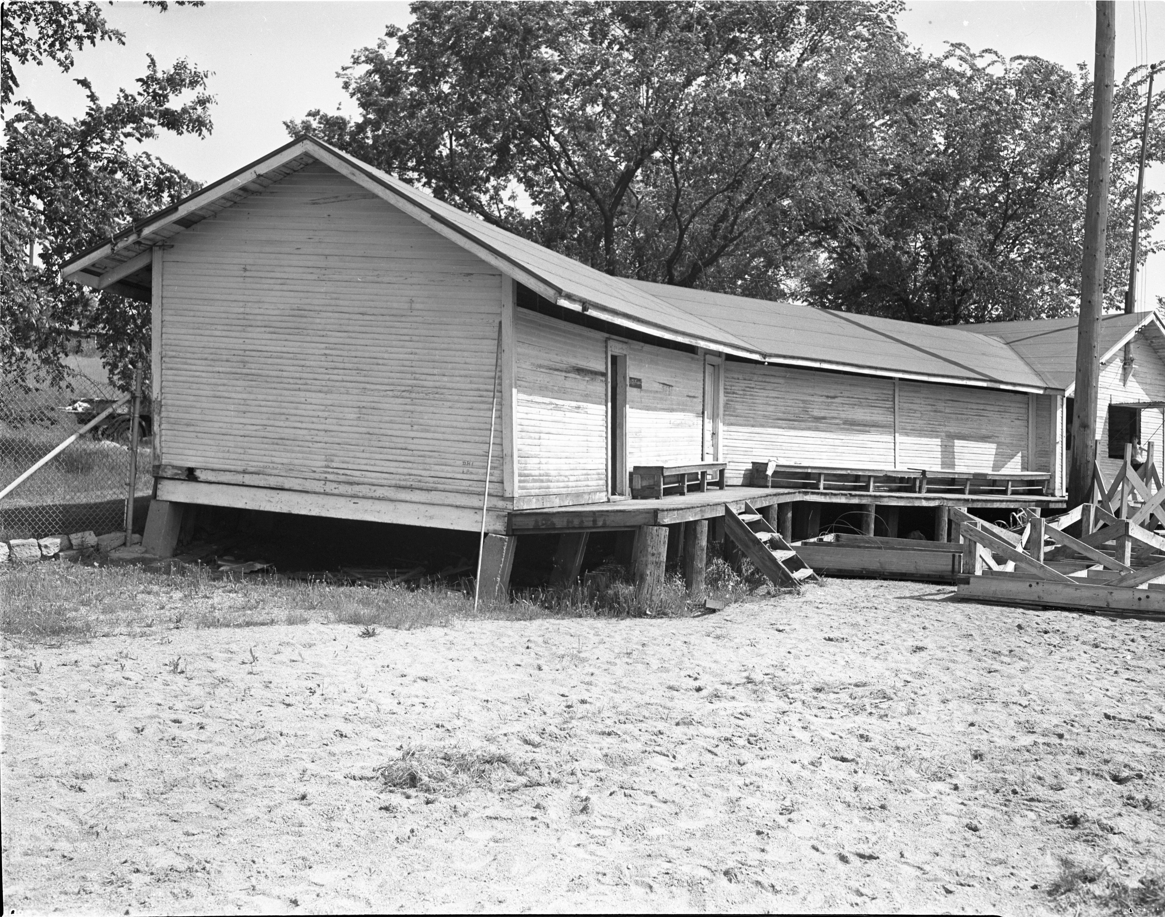 Dilapidated Bathhouse At Ann Arbor Municipal Beach, June 1940 image