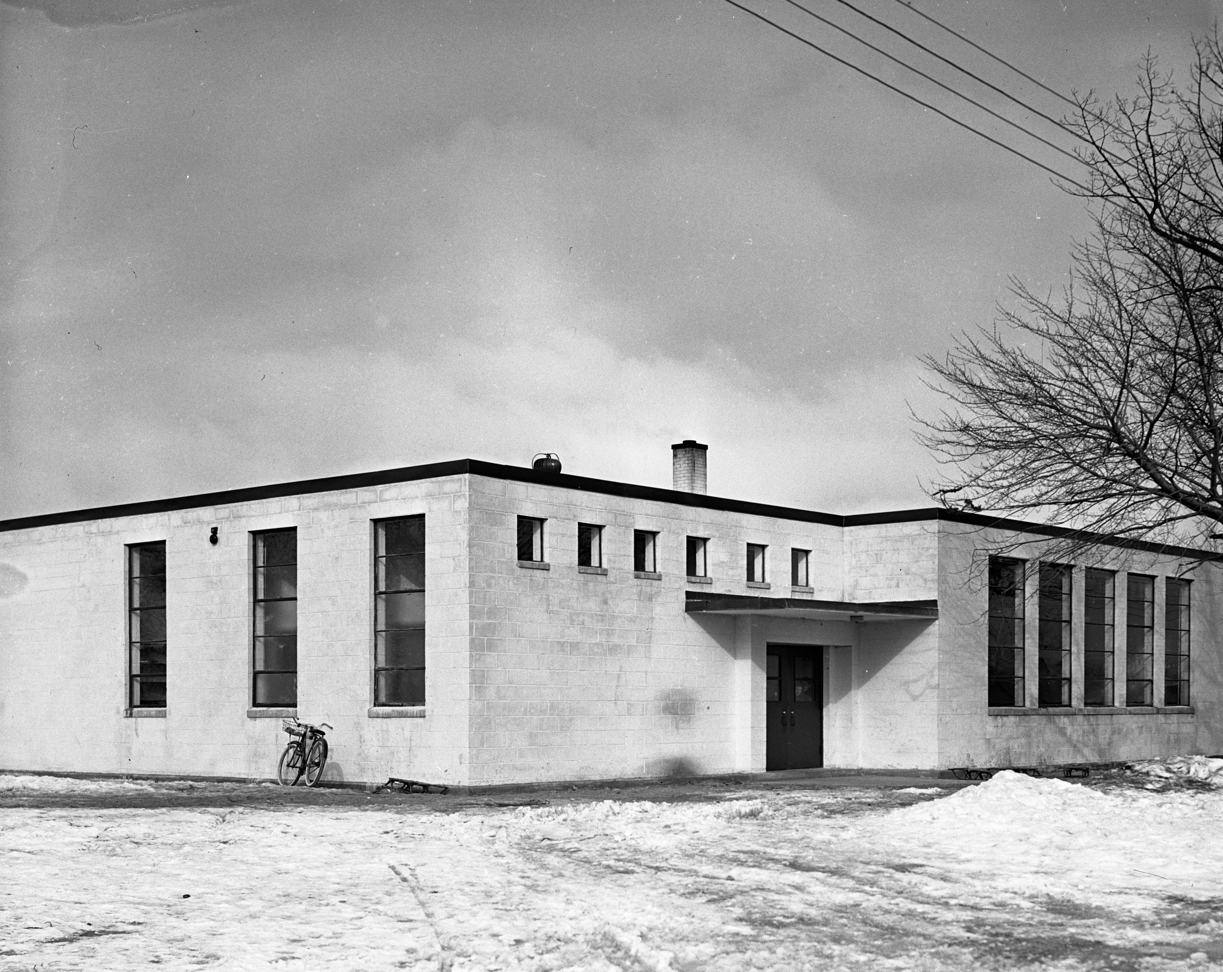 New school, Gregory, Michigan, February 1939 image