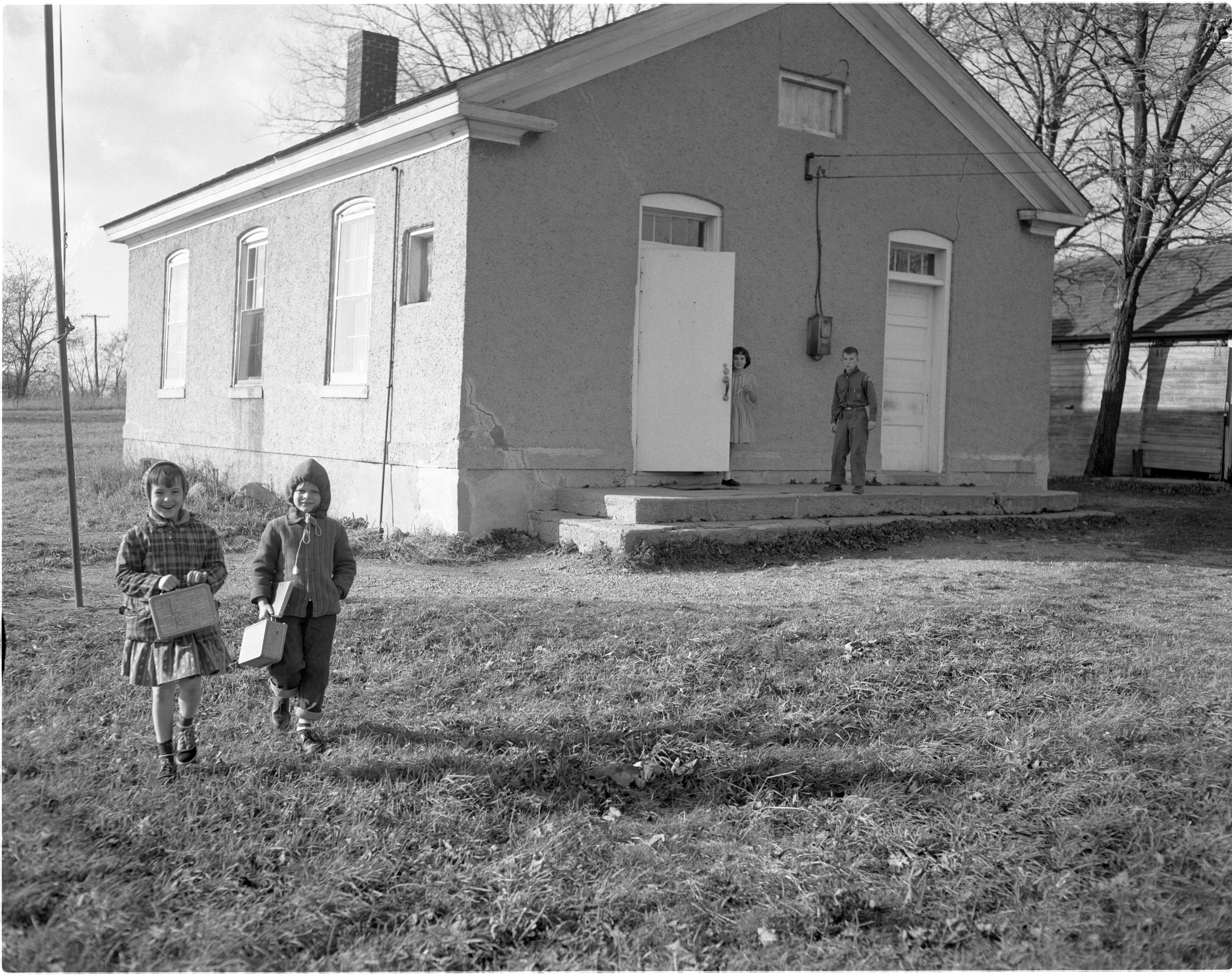 Students Outside Braun School, November 1960 image