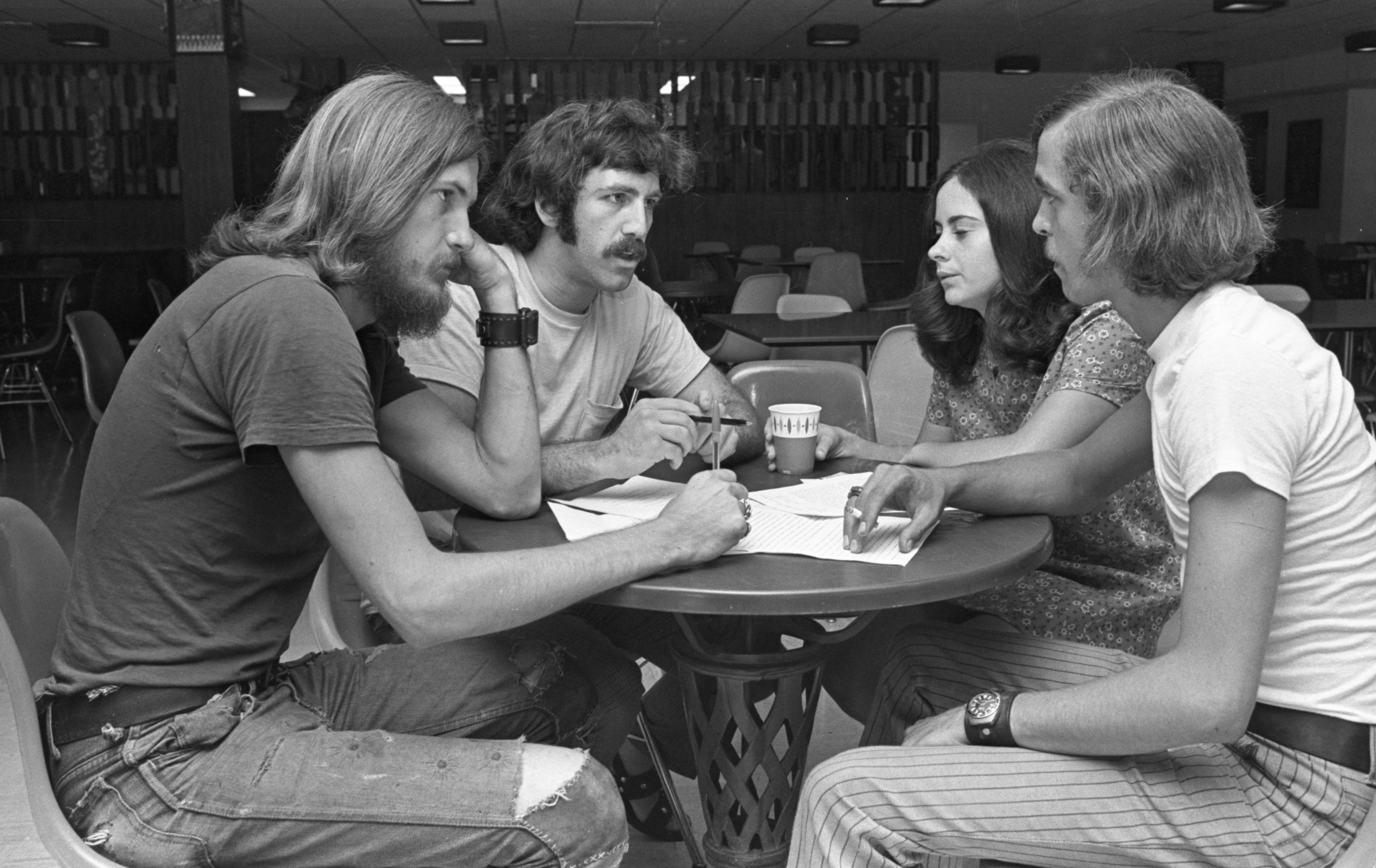 EMU Student Leaders Discuss The Upcoming School Year, August 1970 image