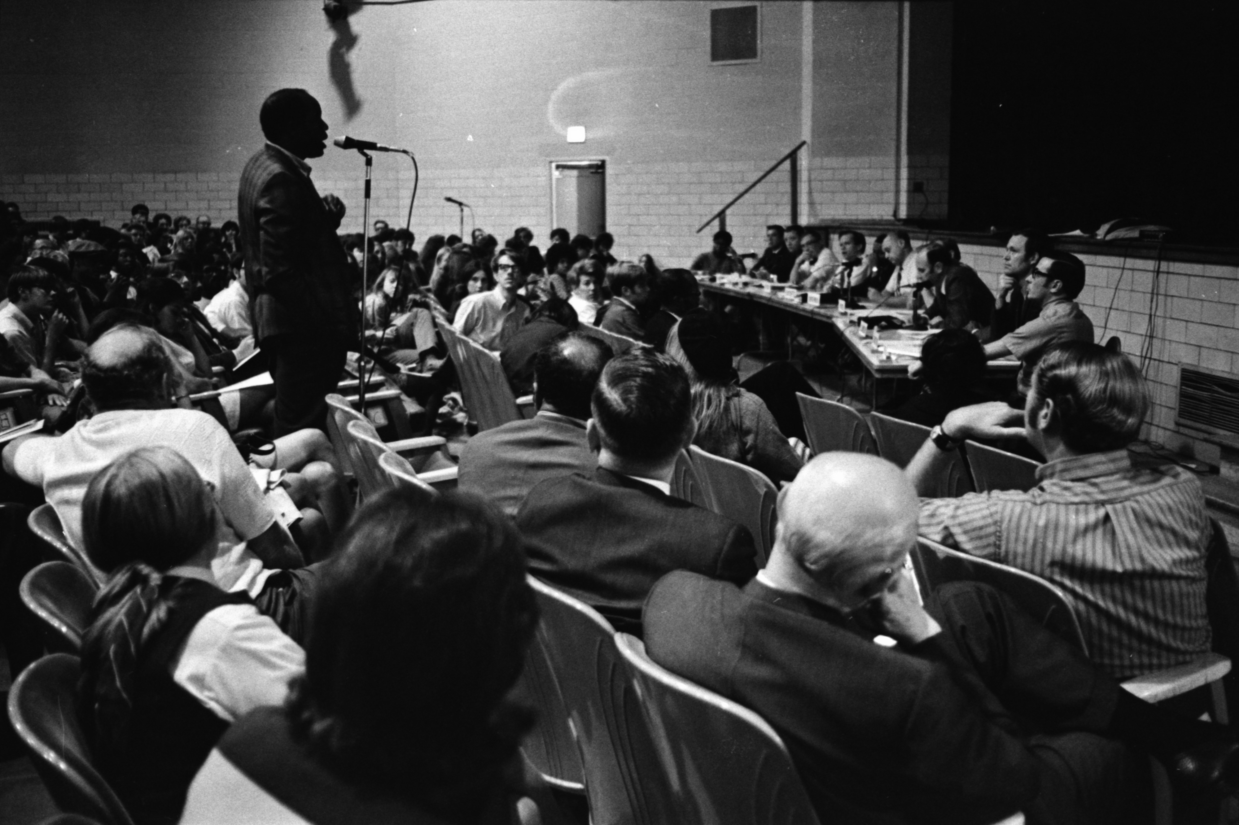 Speaker Addresses Community Forum On Pioneer High School Riot, October 1970 image