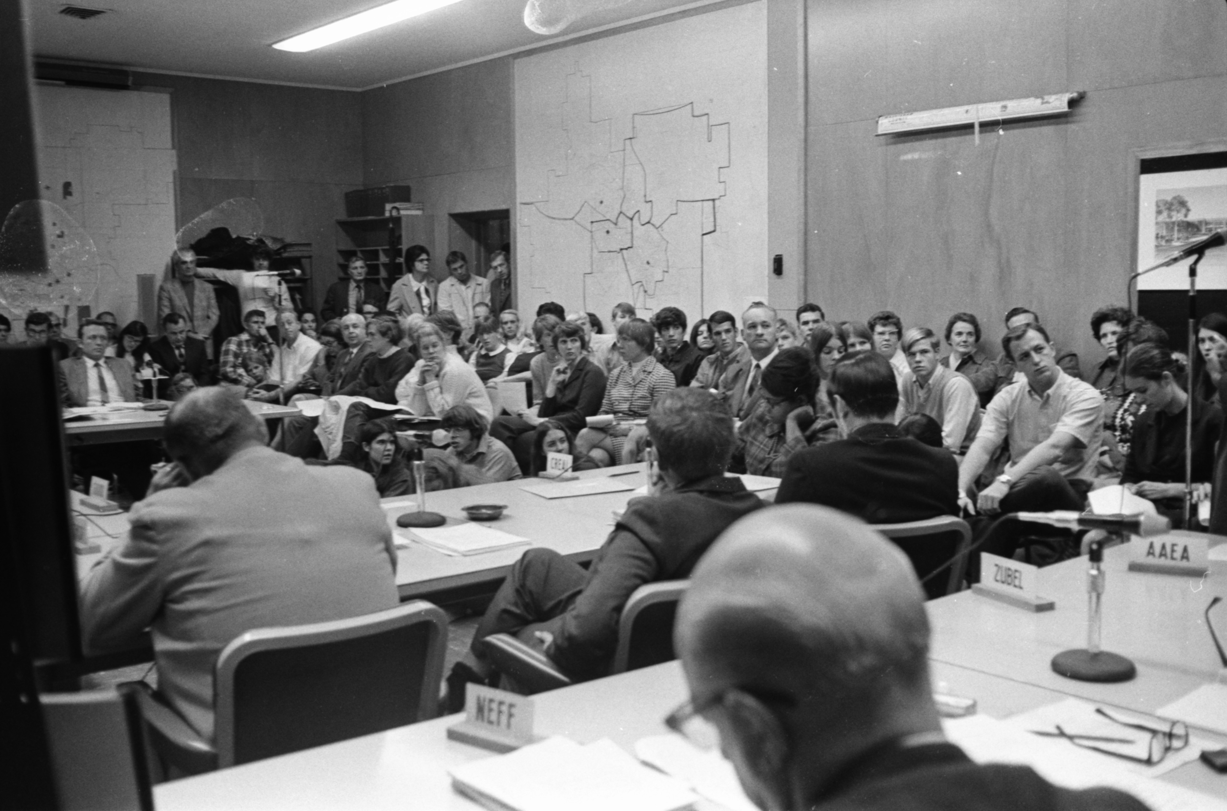 Ann Arbor Board of Education Forum On Pioneer High School Riot, November 1970 image