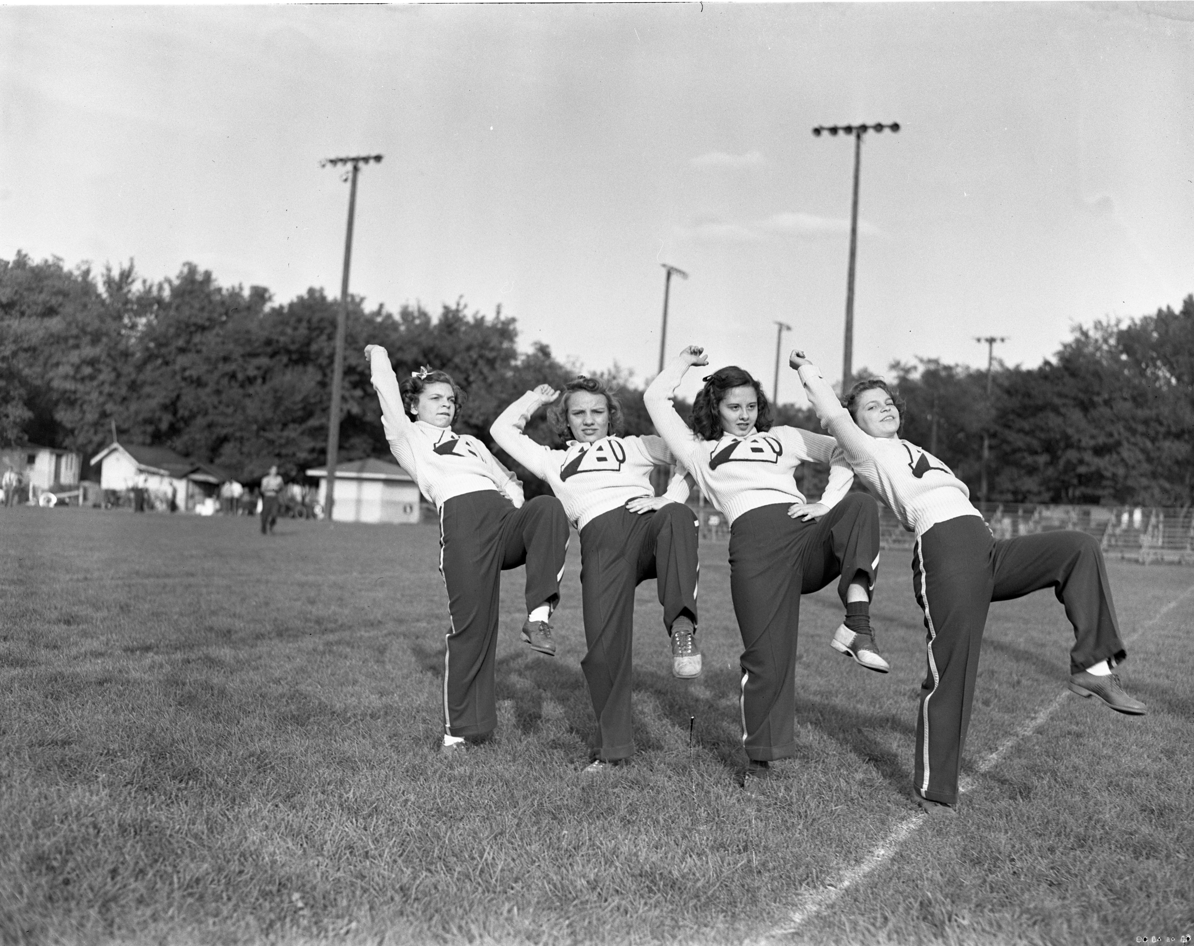 Ann Arbor High School Cheerleaders, October 1940 image