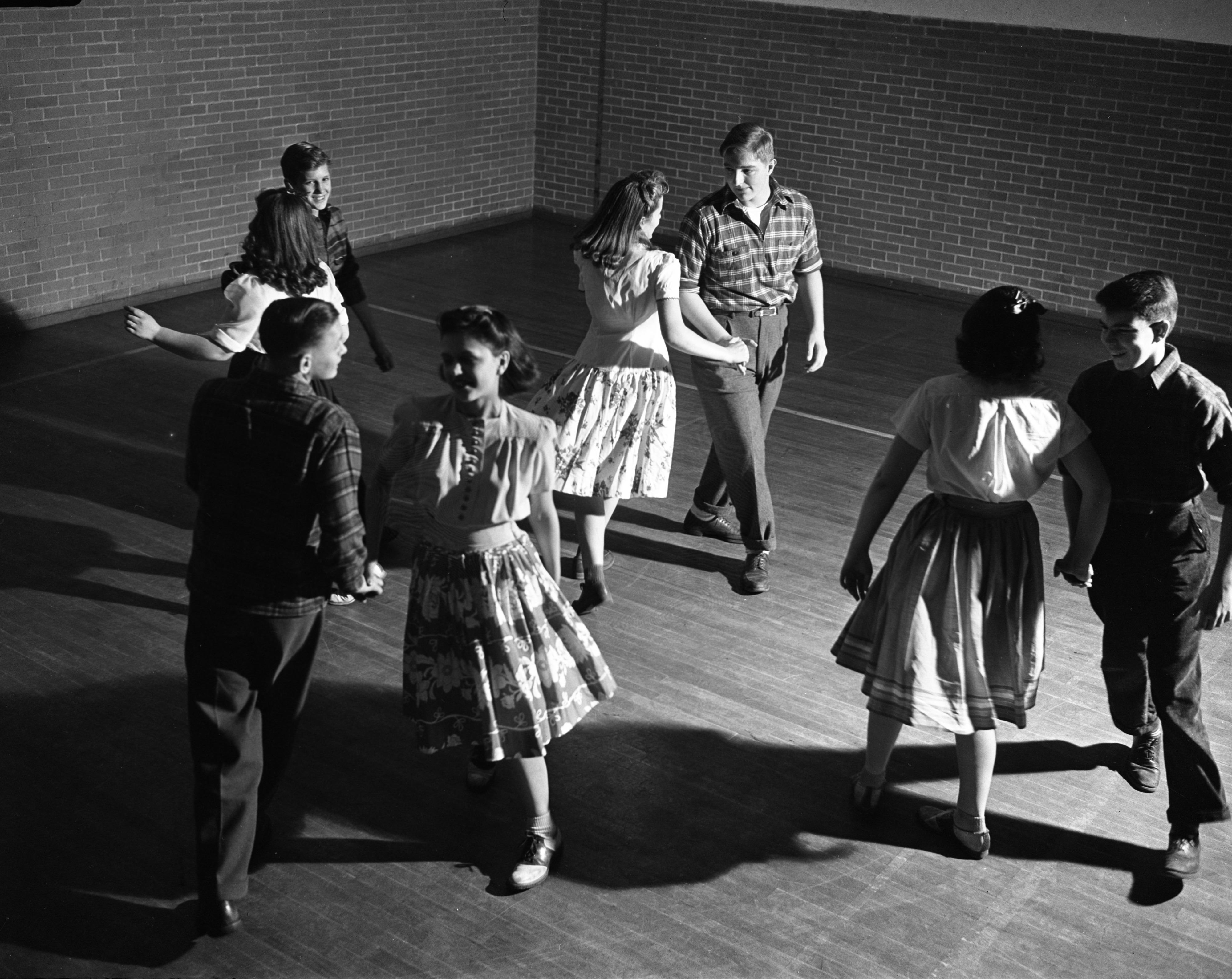 Cowboy Dance at Ann Arbor High School, 1942 image