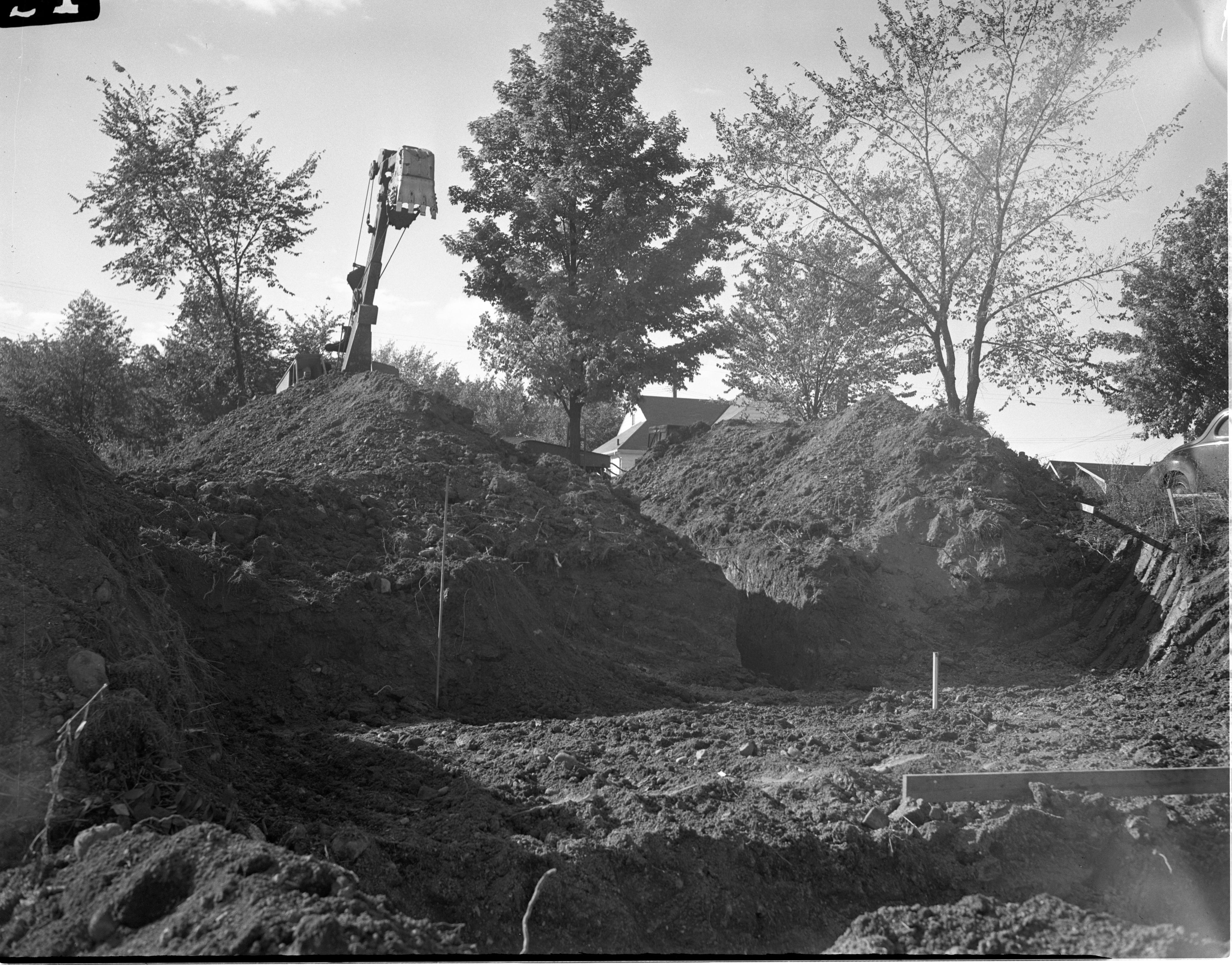Excavation Of 803 Mt. Pleasant Avenue - Home Being Built By Ann Arbor High School Students, October 1945 image