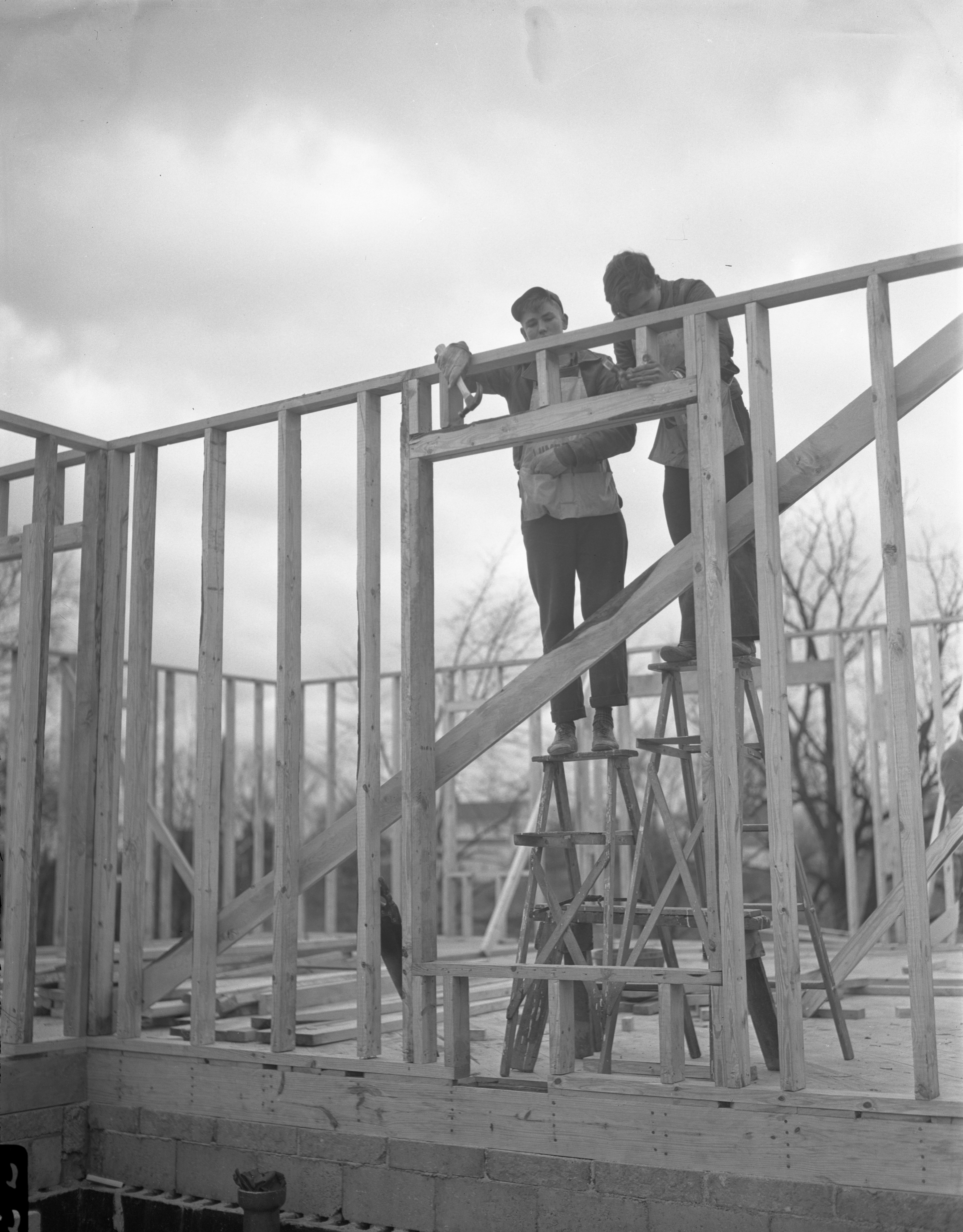 803 Mt. Pleasant Avenue - Home Being Built By Ann Arbor High School Students, November 1945 image