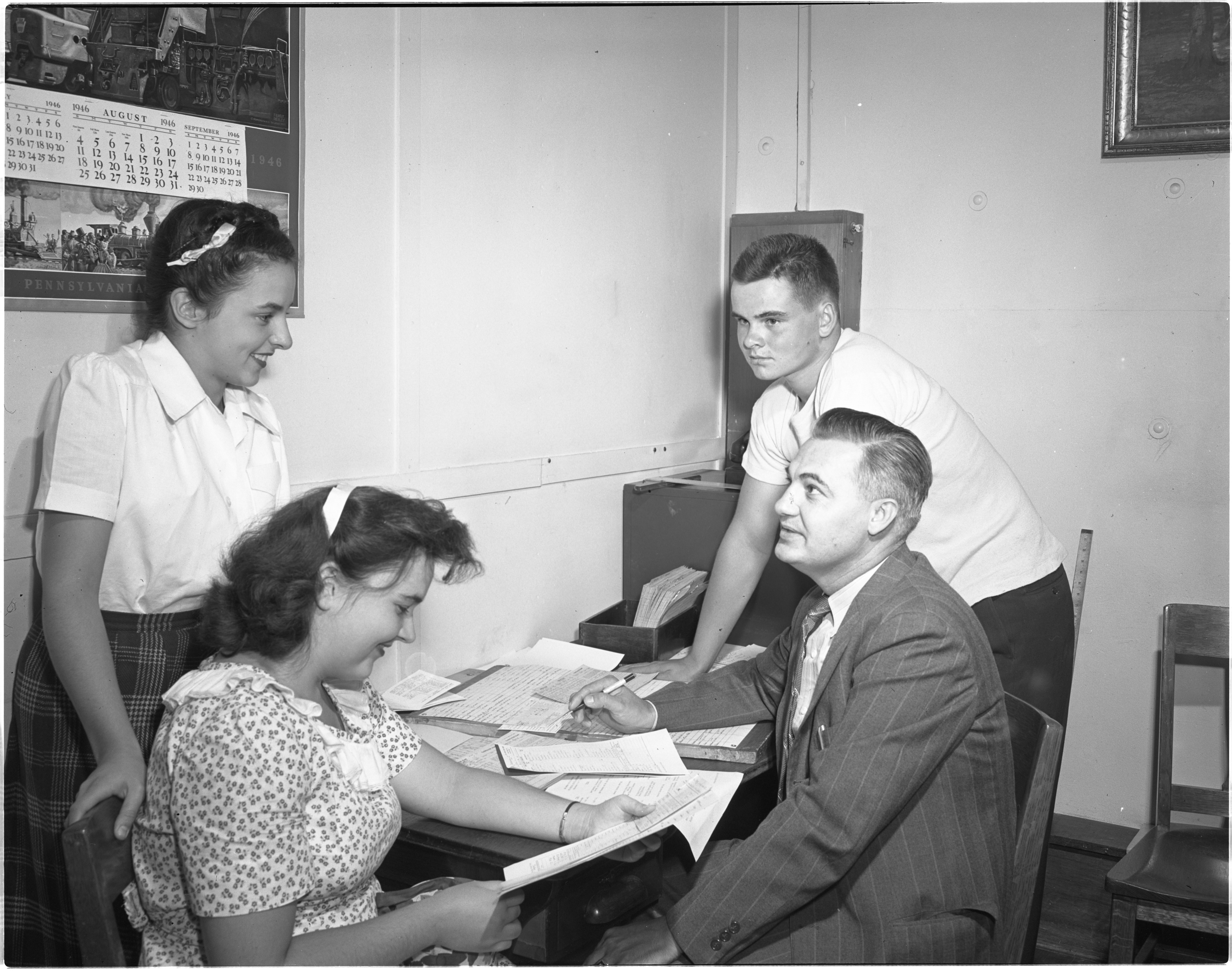 New City Residents Enroll In Ann Arbor High School, August 1946 image