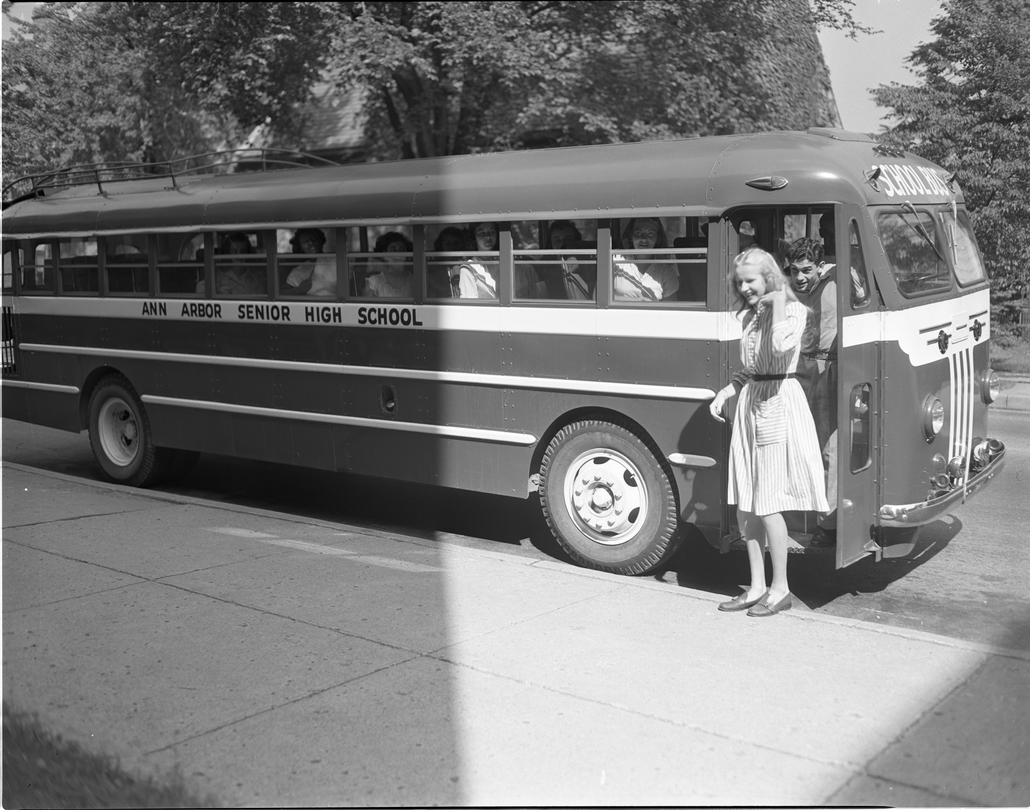 New Ann Arbor High School Bus, September 1947 image