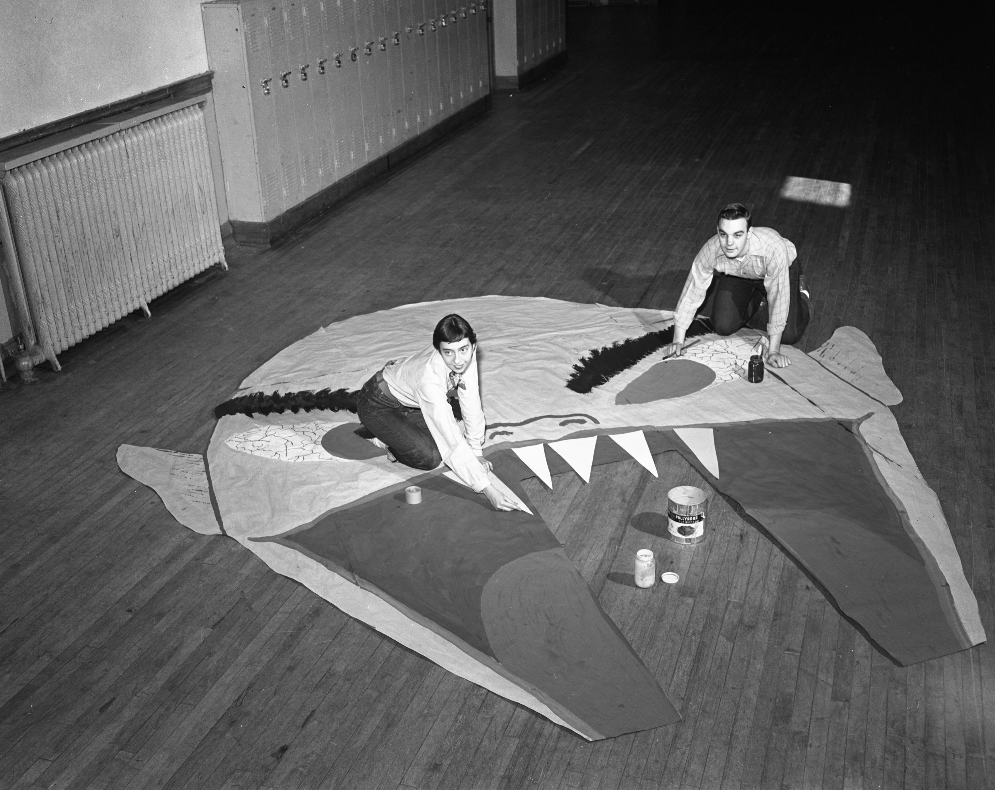 Students Make Decorations for the Ann Arbor High School Carnival, April 1951 image