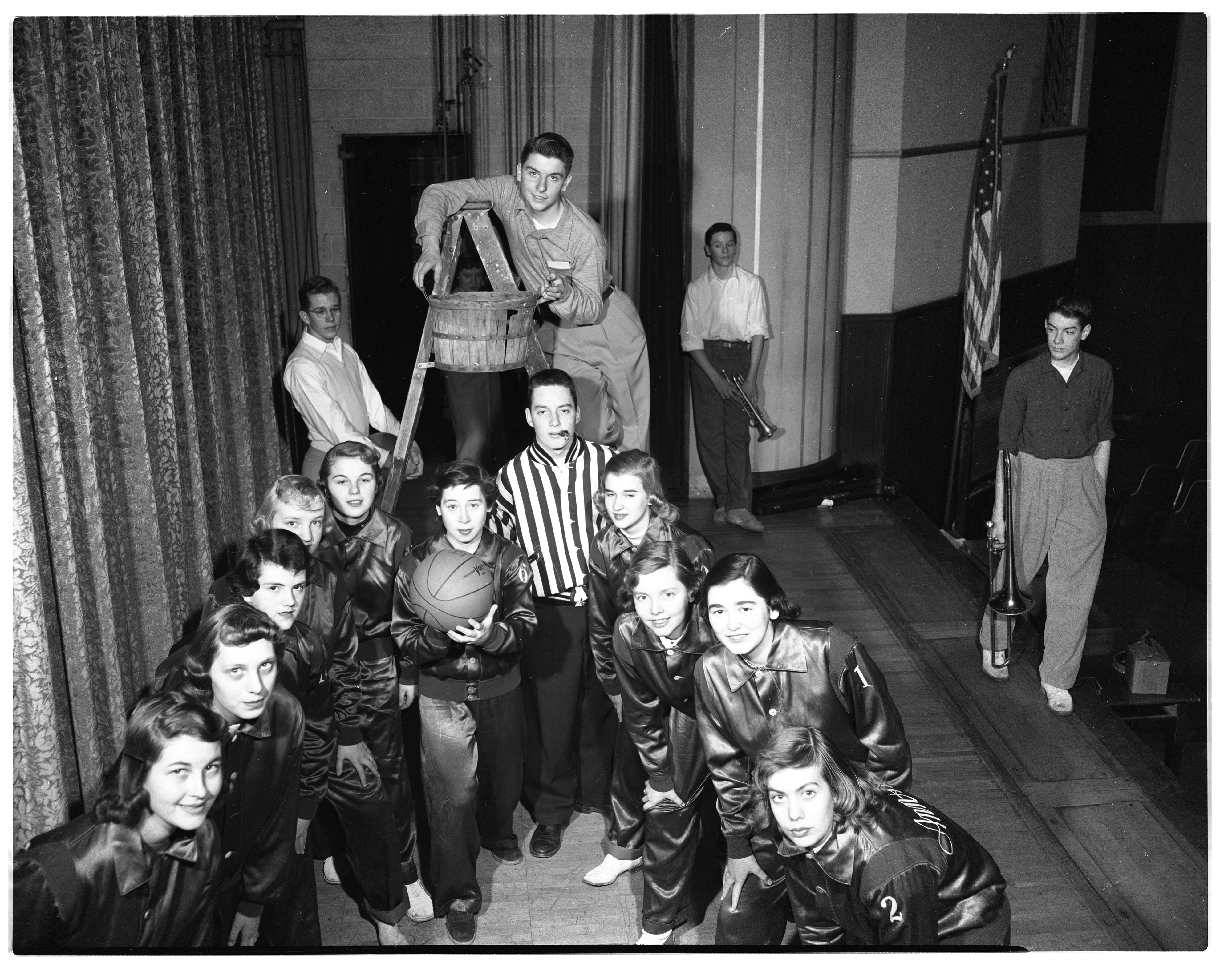 Ann Arbor High School Student Skit Promotes School Millage, February 1953 image