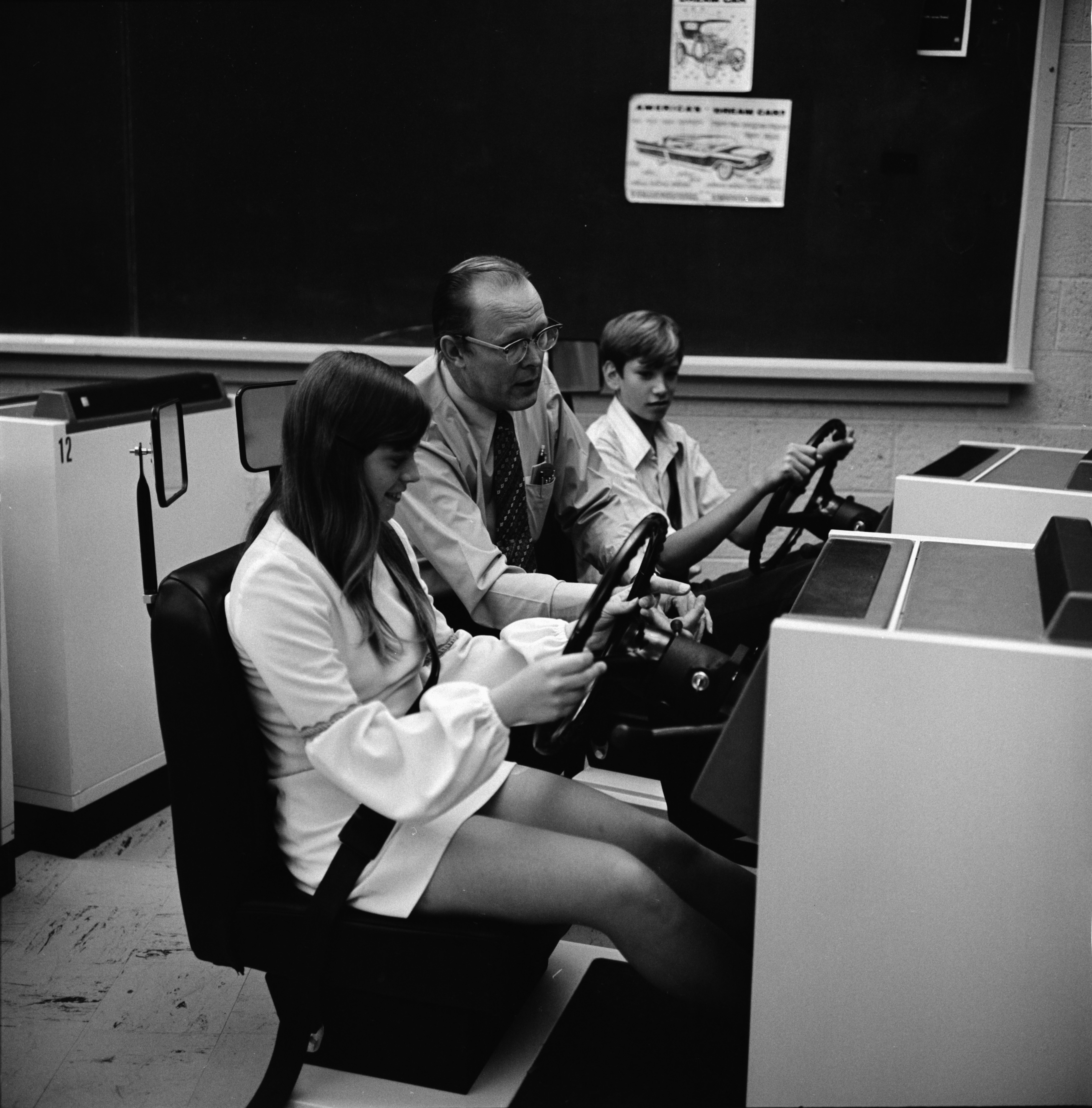 Driver Training Simulators at Pioneer High School, August 1972 image