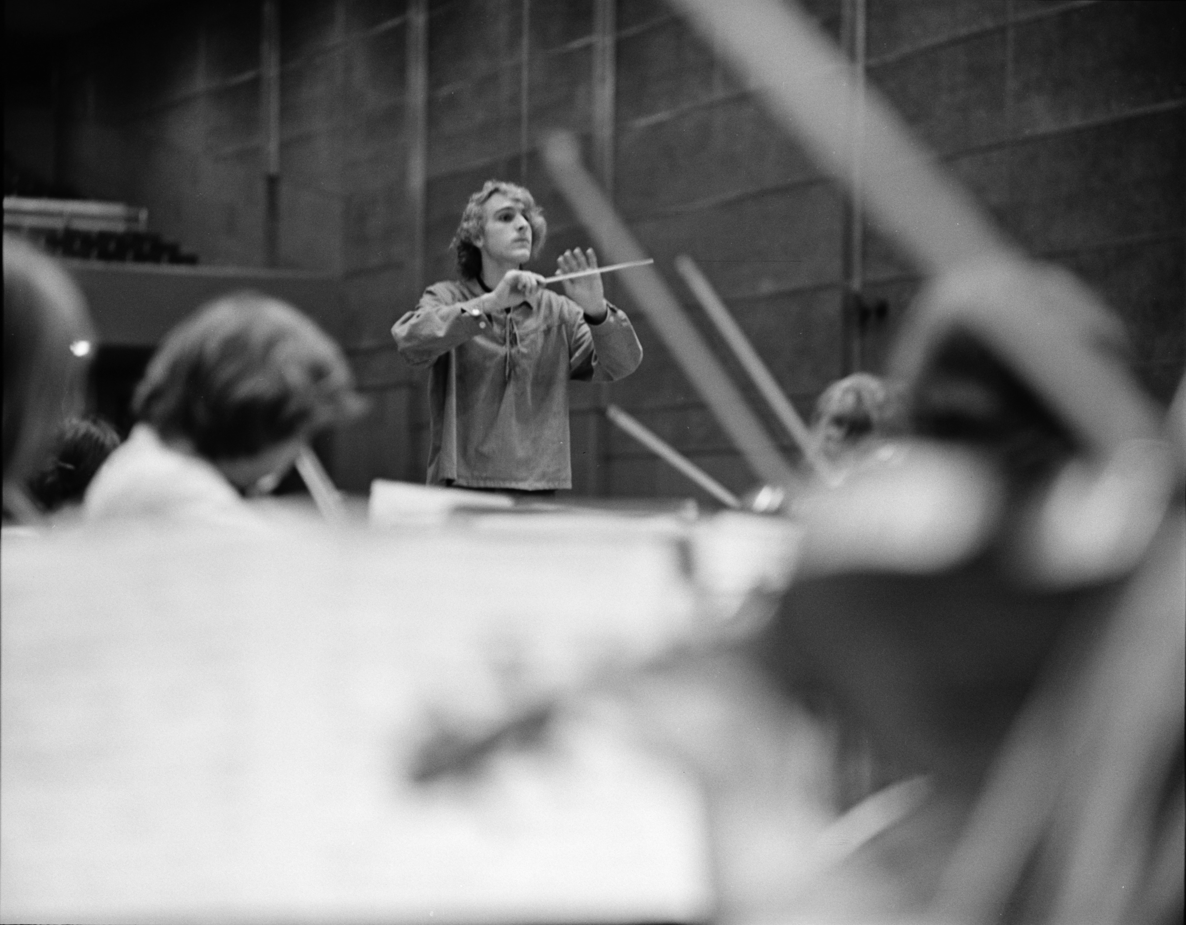 Pioneer High School Student Composer Philip Stoll Conducting, November 1973 image