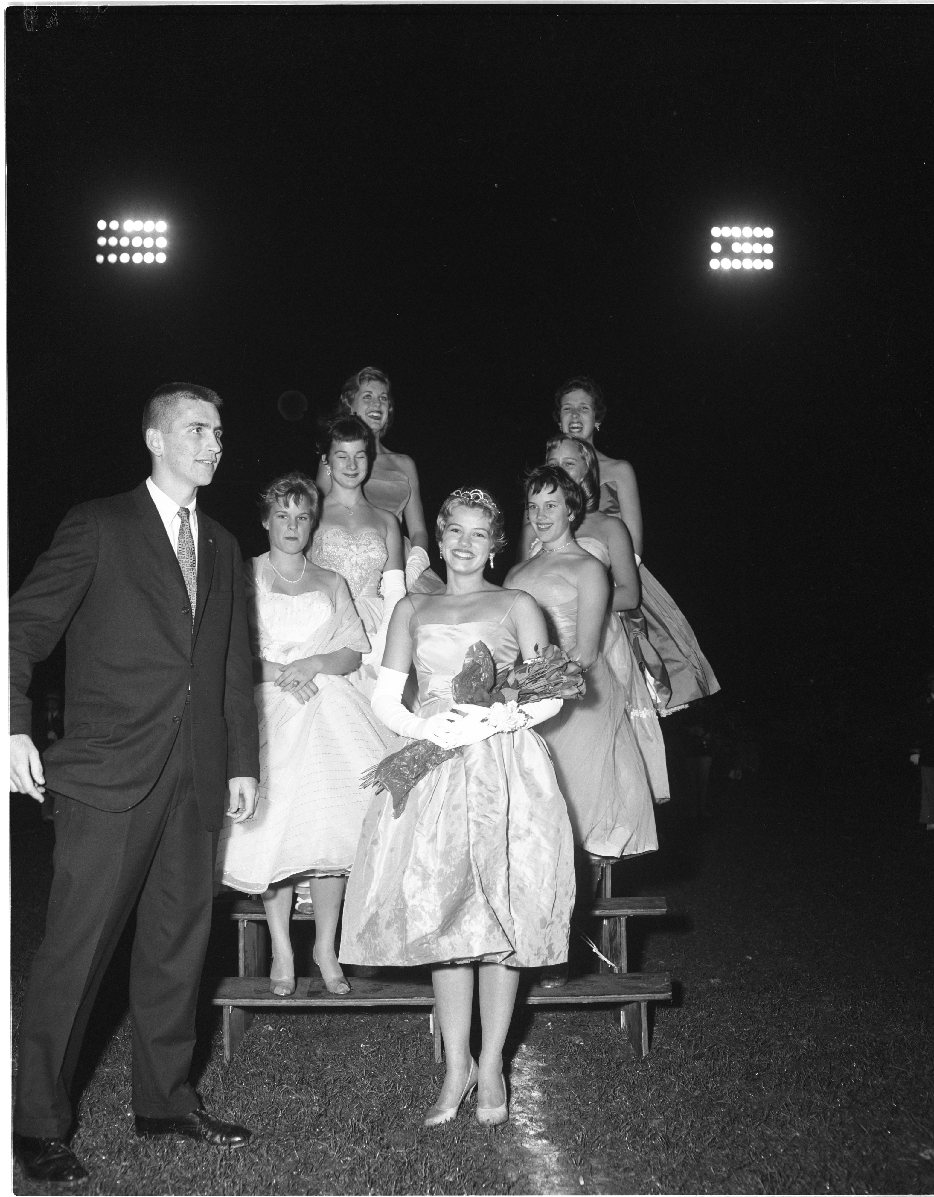 Mary Palmer Is Named Ann Arbor High School's Homecoming Queen, October 1959 image