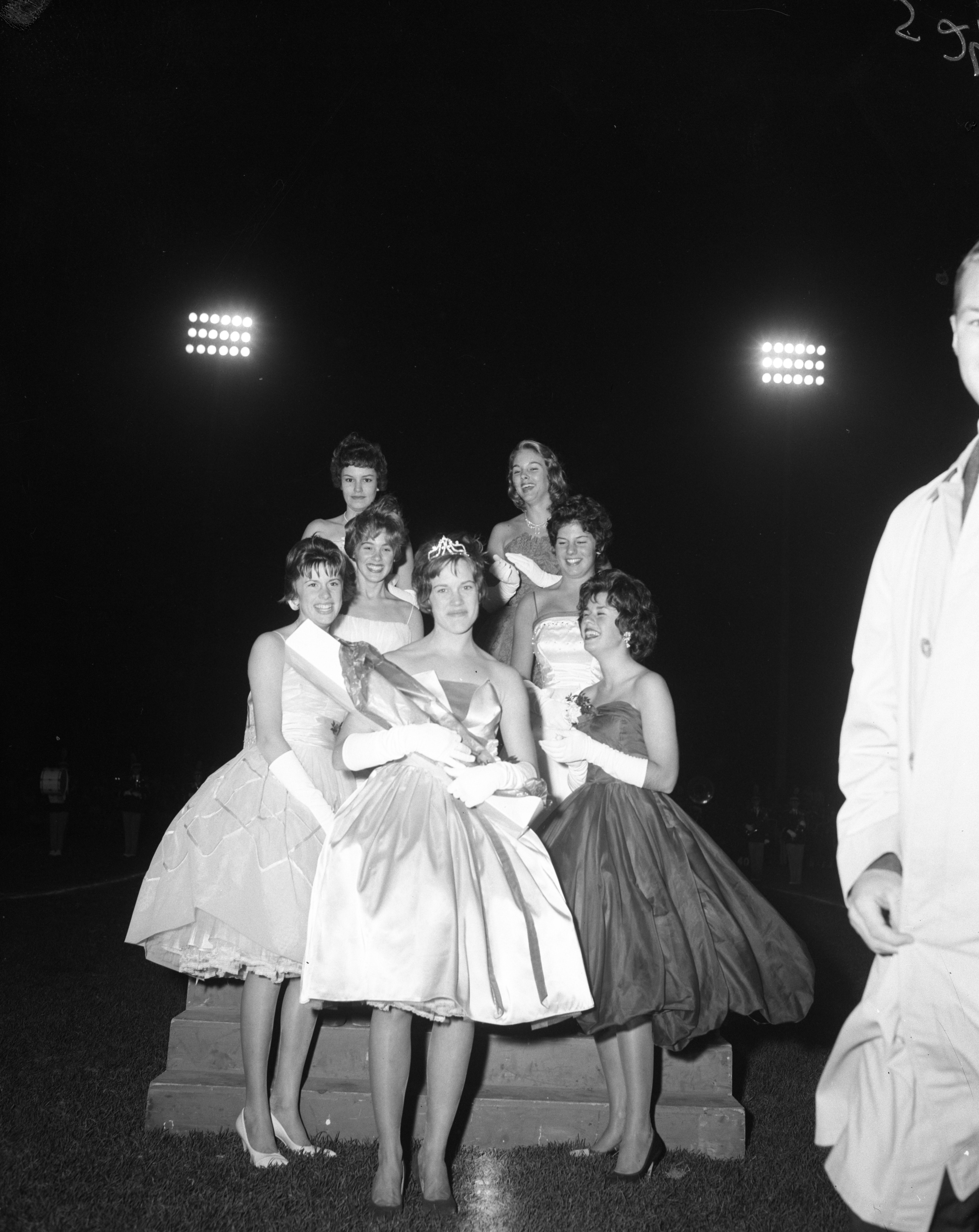 Pam Hogan, Ann Arbor High School Homecoming Queen, and Her Court, October 1961 image