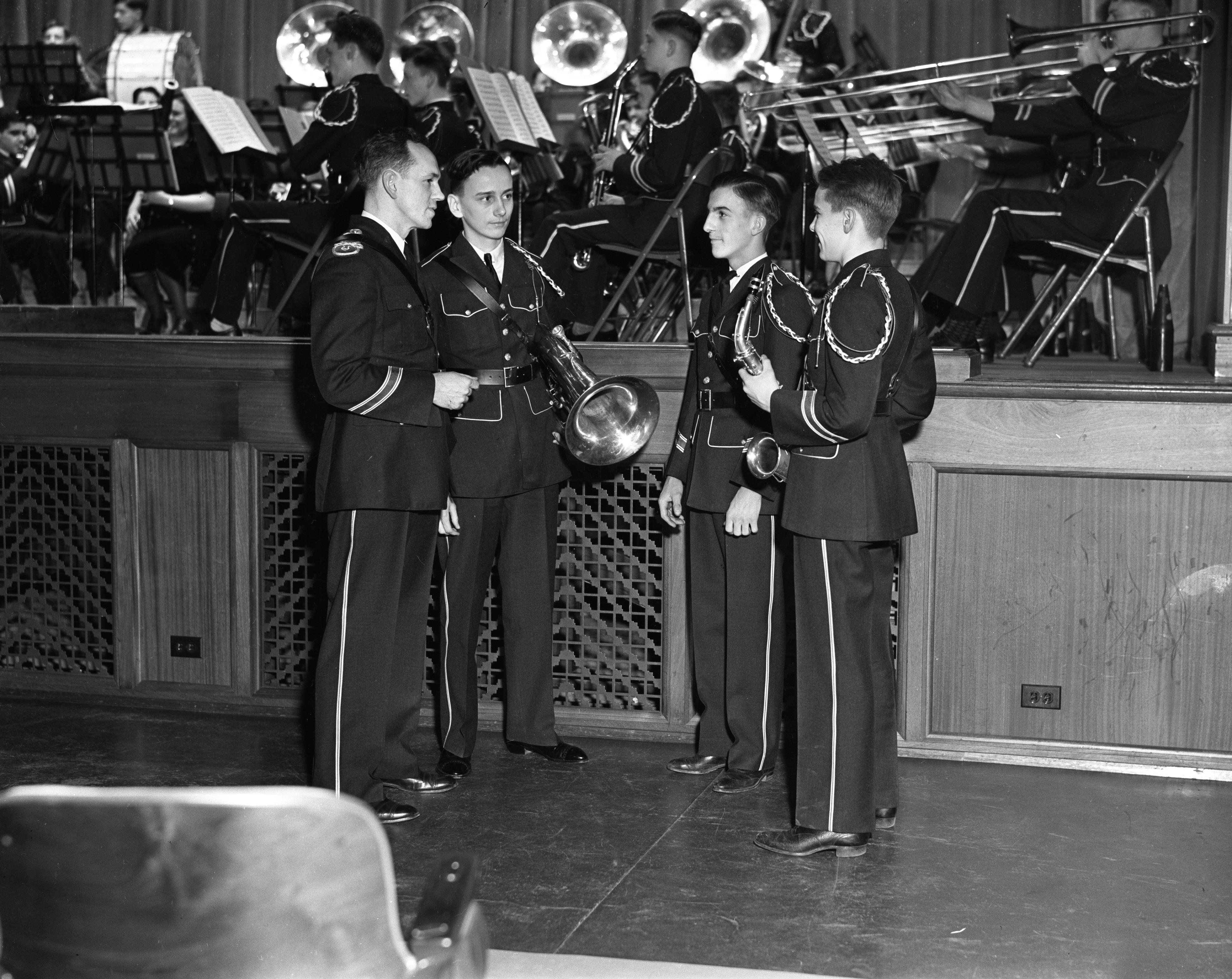 Ann Arbor High School Band Boasts New Uniforms, March 1937 image
