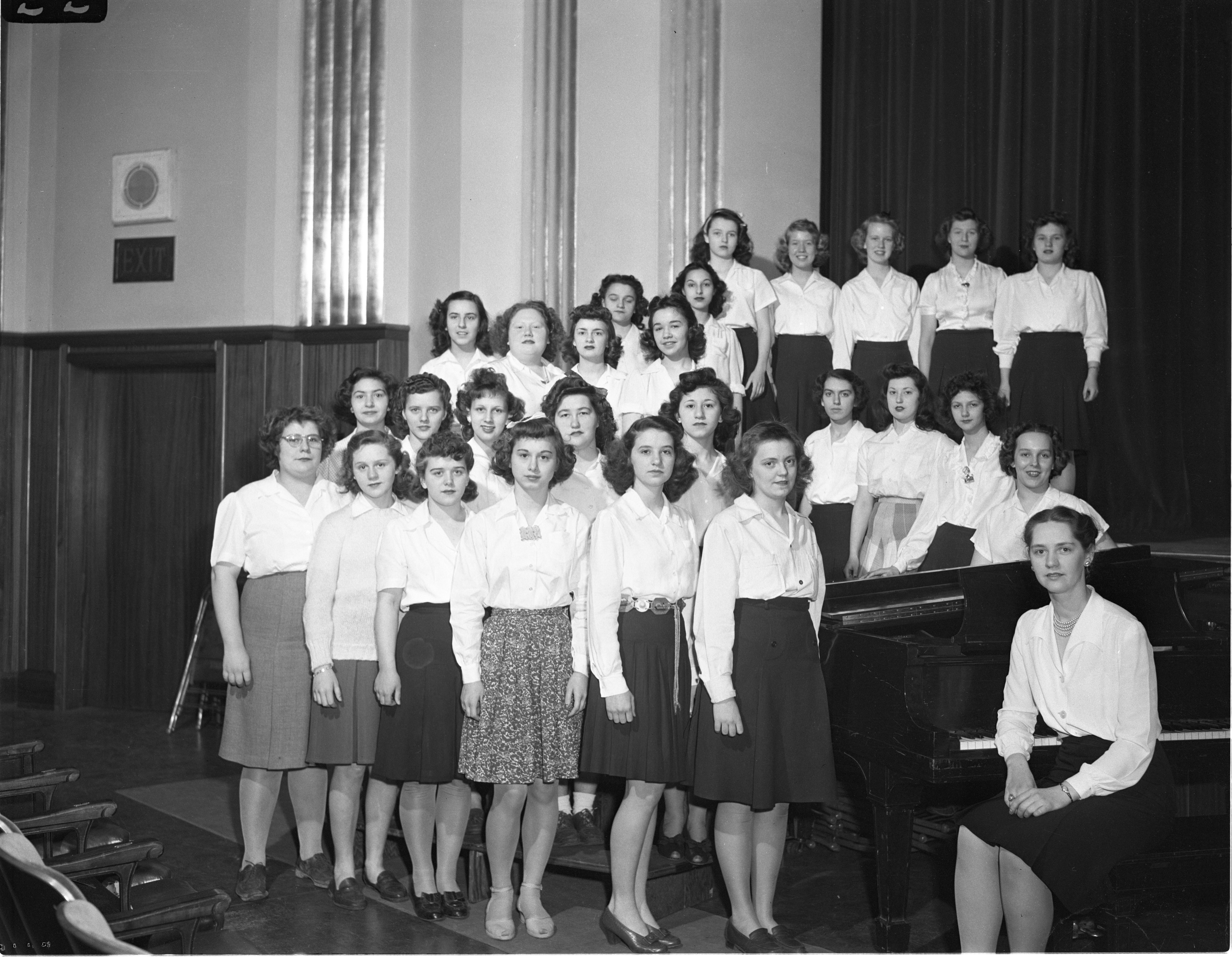 Ann Arbor High School - Cantando Choir, April 1944 image