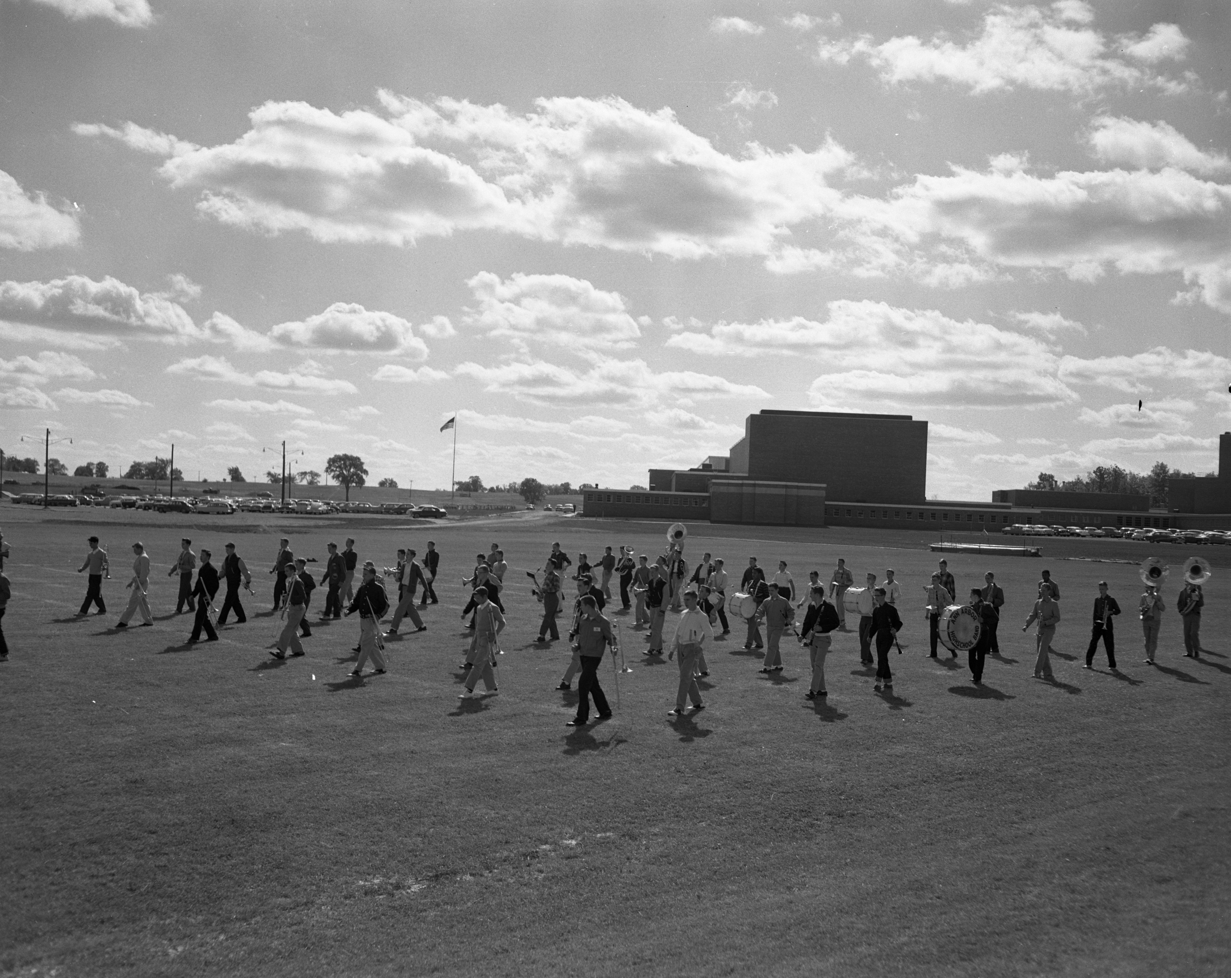 Ann Arbor High vs. Grosse Pointe Football Game, September 1959 image