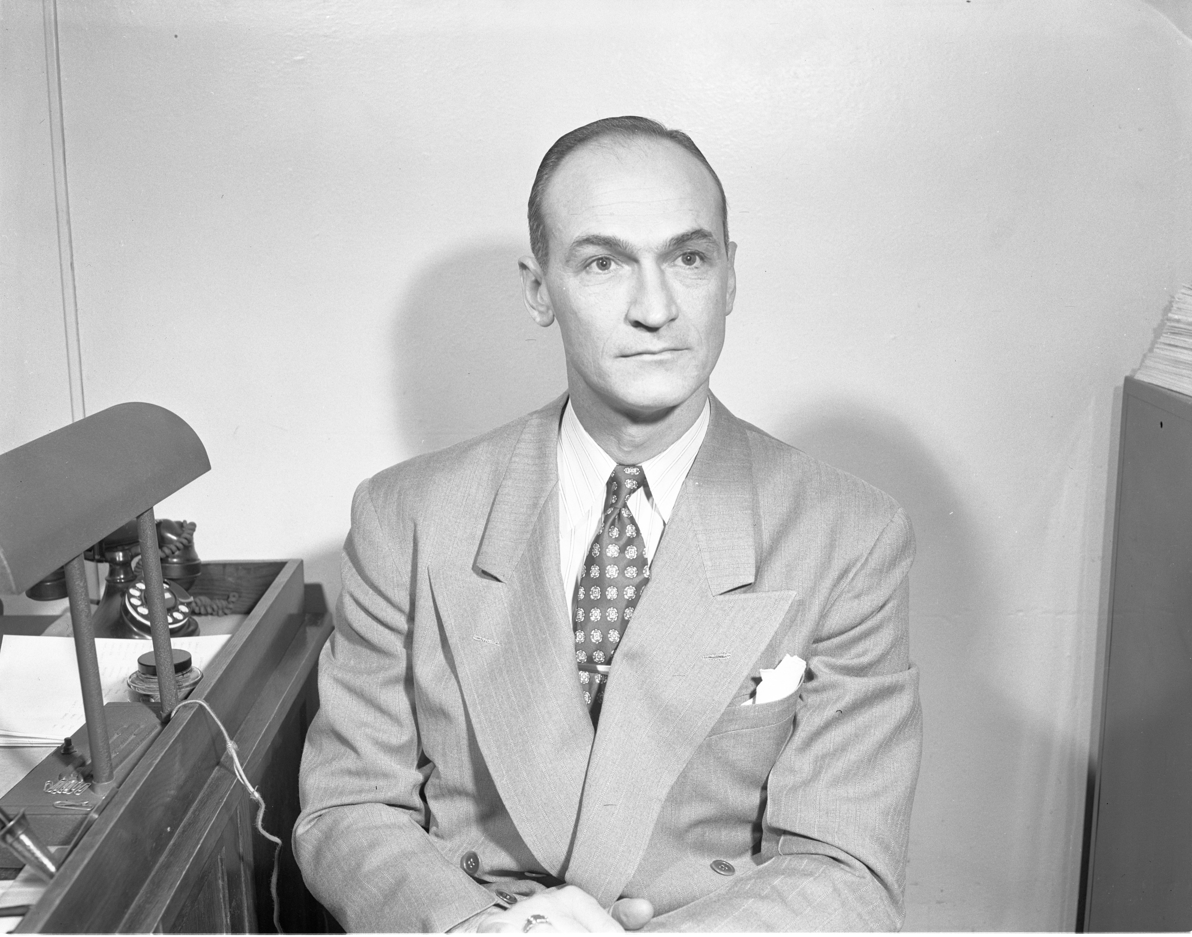 Kip Taylor Visiting Ann Arbor High School, January 1950 image