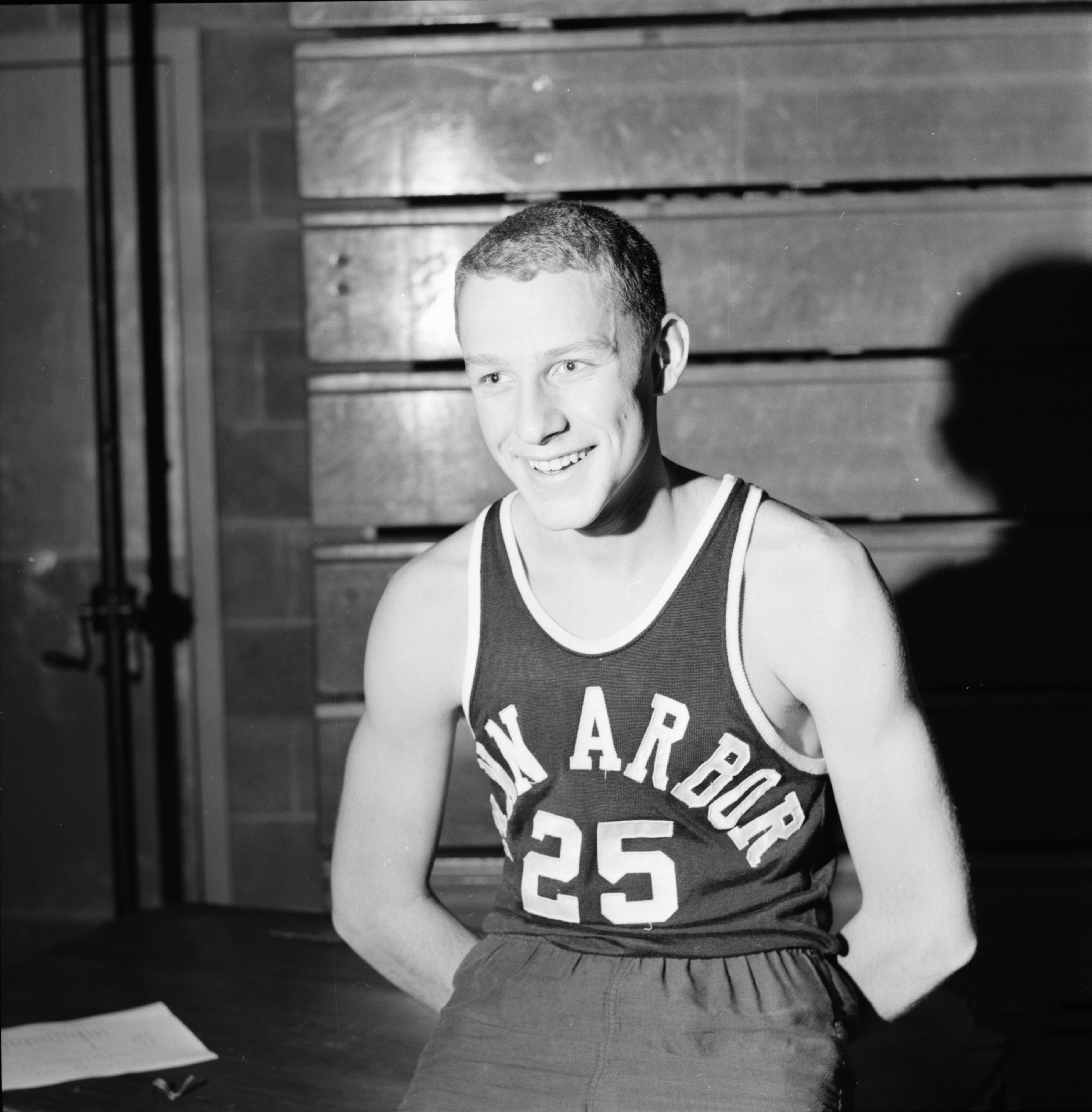 Al Stevens, 1963-1964 Ann Arbor High School basketball season, December 1963 image