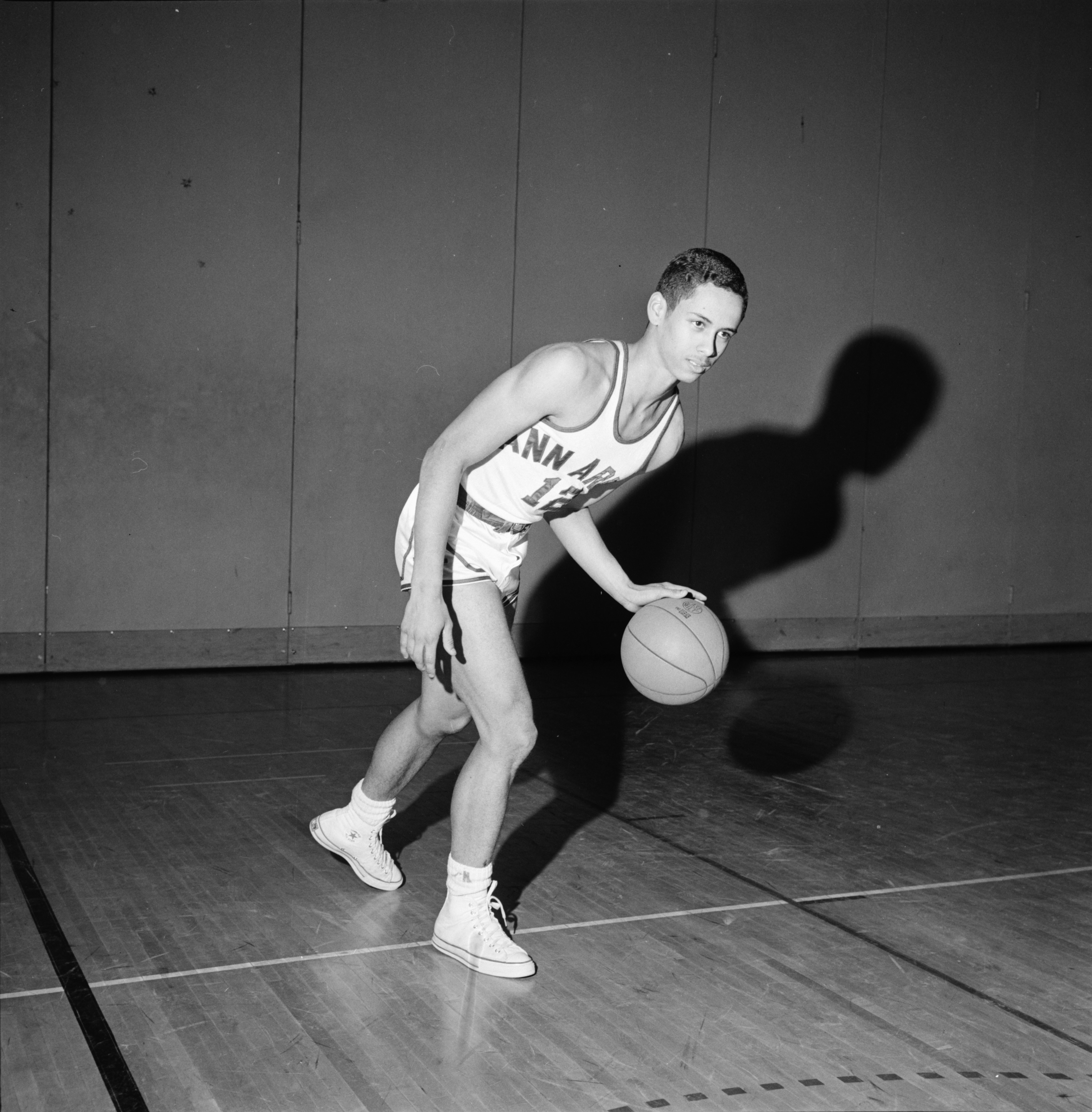 Harold Simons is Captain of Ann Arbor High Basketball Team, March 1964 image