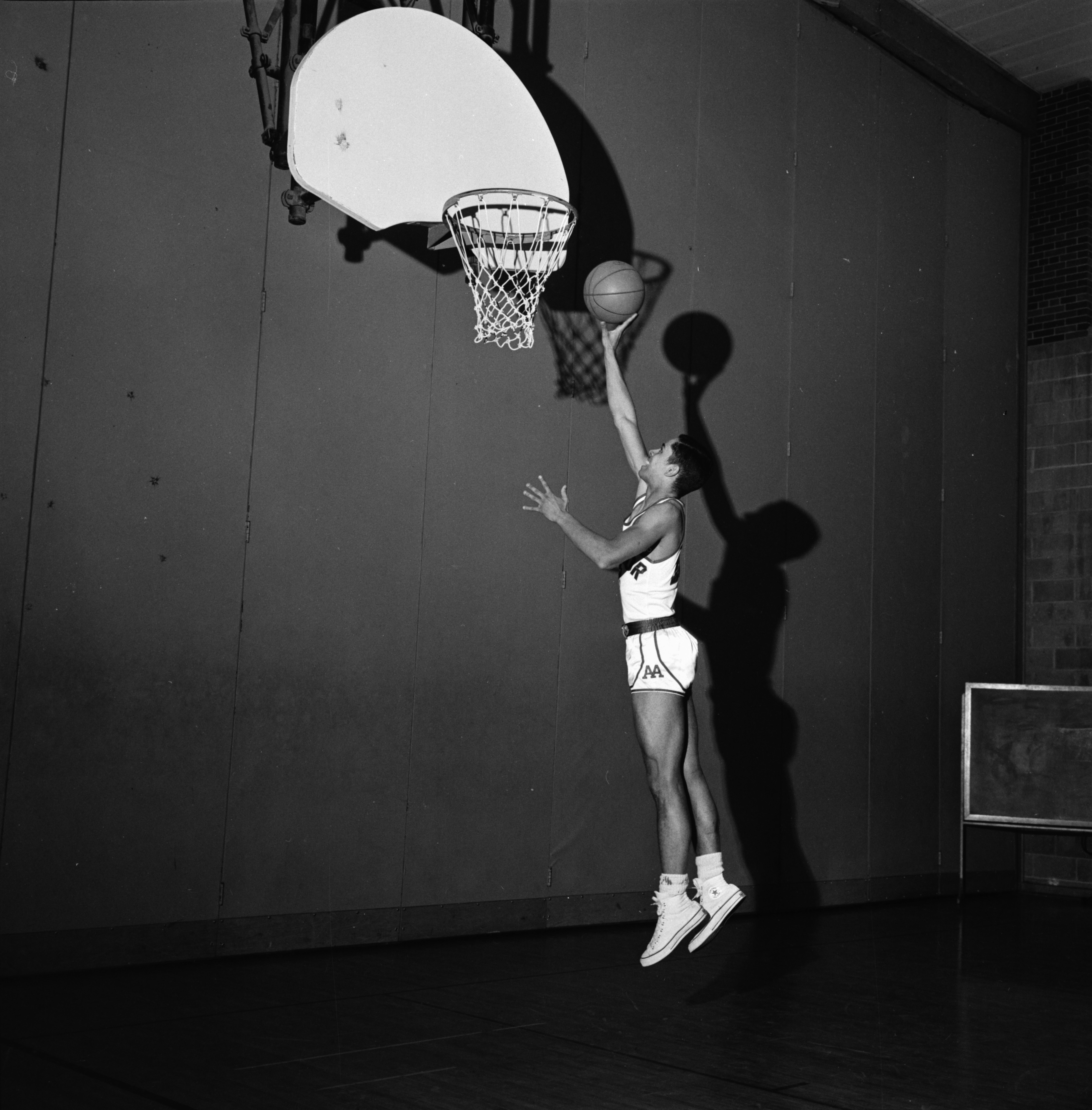 Harold Simons is Standout for Ann Arbor High Basketball Team, March 1964 image