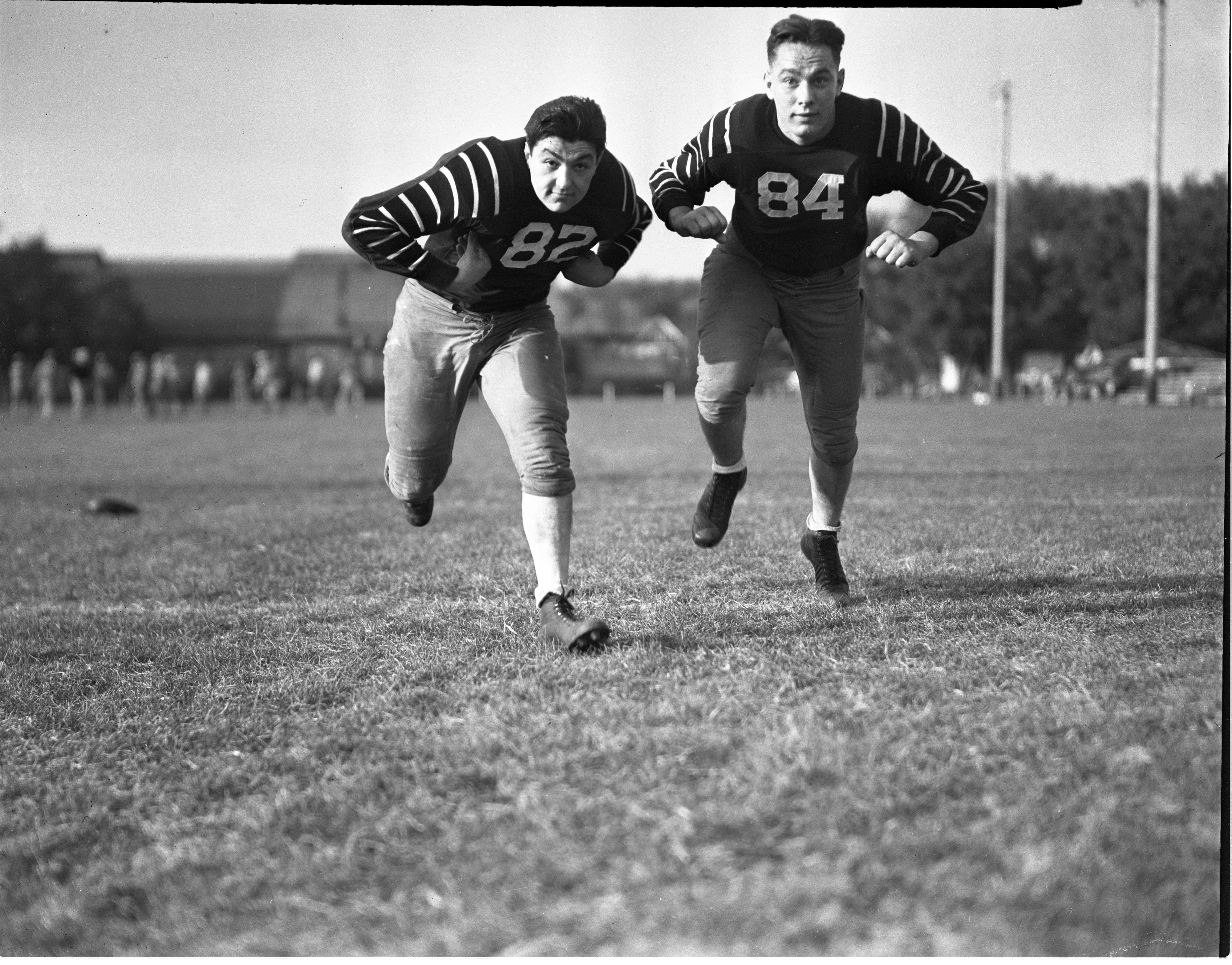 Image from Ann Arbor High School Football - Pete Kokenakes & Mike Dobransky, September 1938