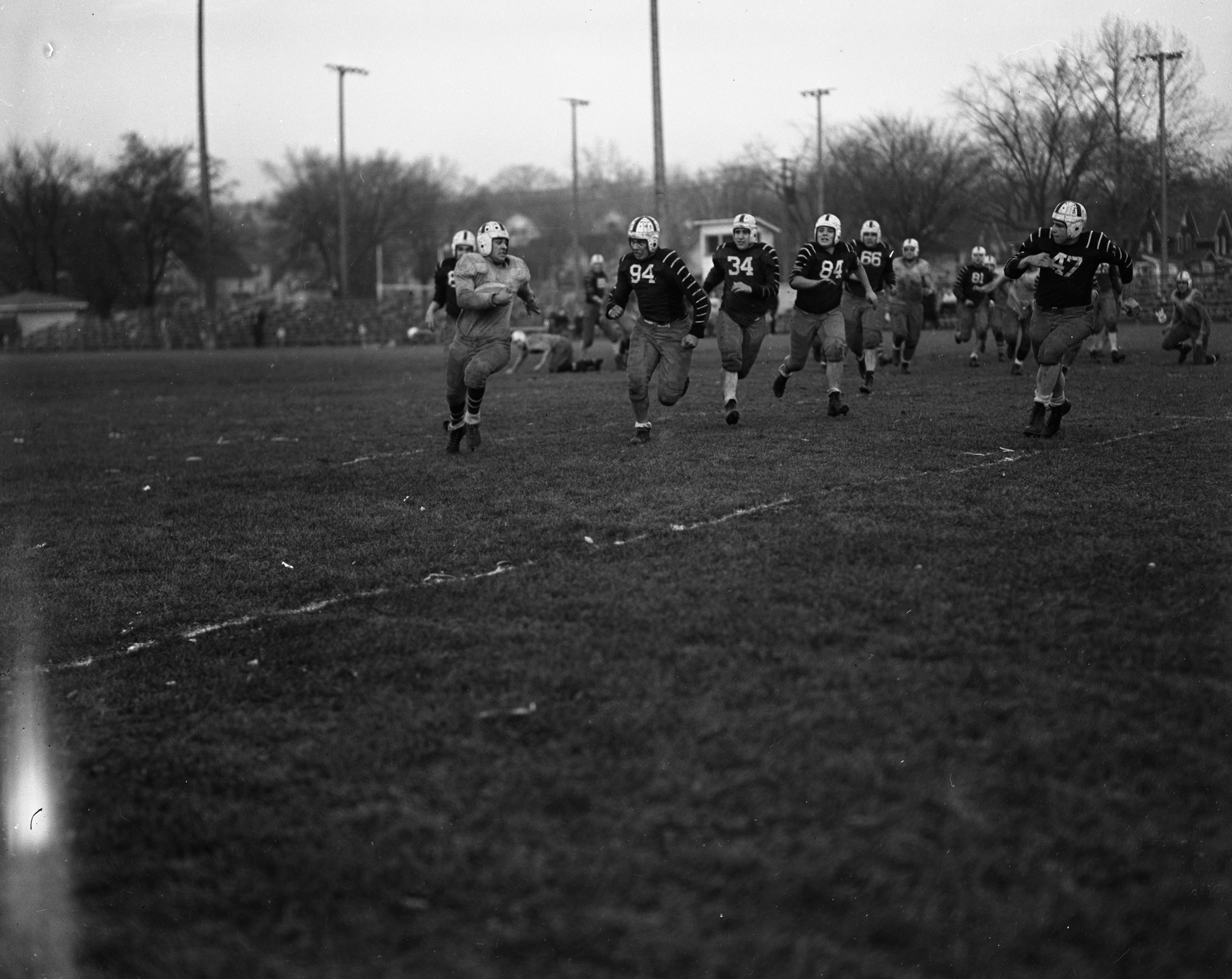 Ann Arbor High School Football Team Divided in the Home Room Game, November 1939 image
