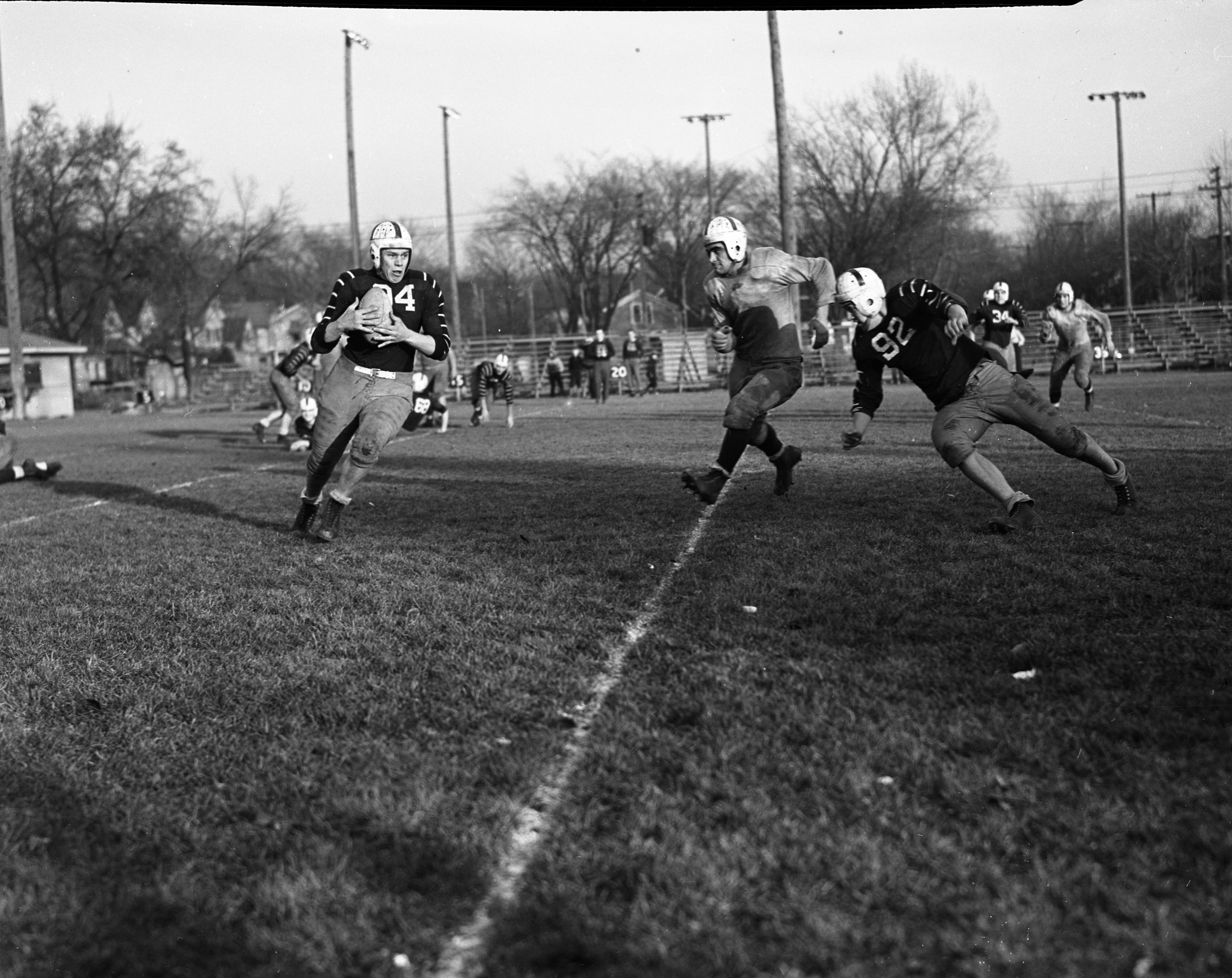 Ann Arbor High School Football, Team Divided in Home Room Game, November 1939 image