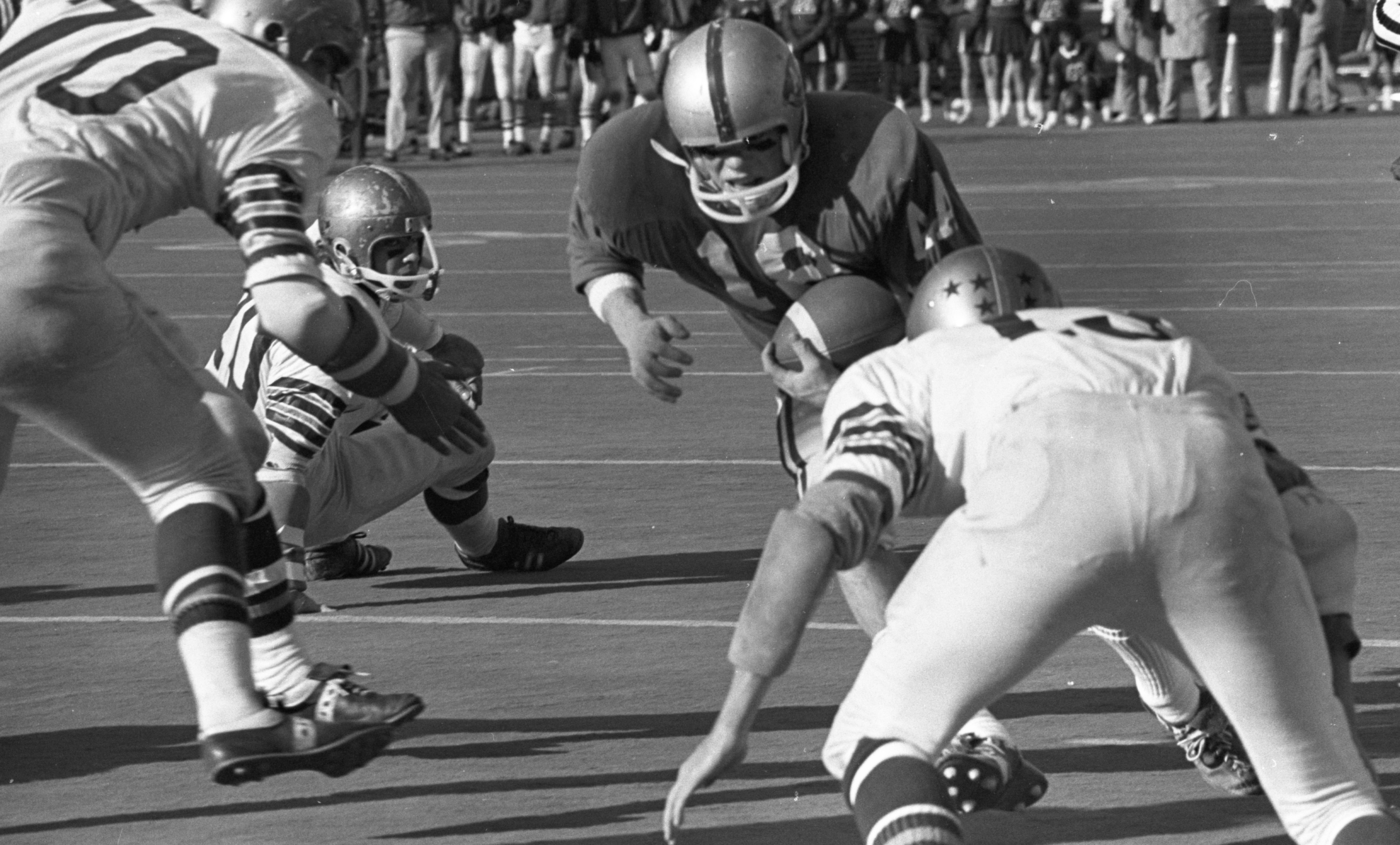 Crosstown Rivals Meet For First Time - Pioneer vs. Huron Football, November 15, 1970 image