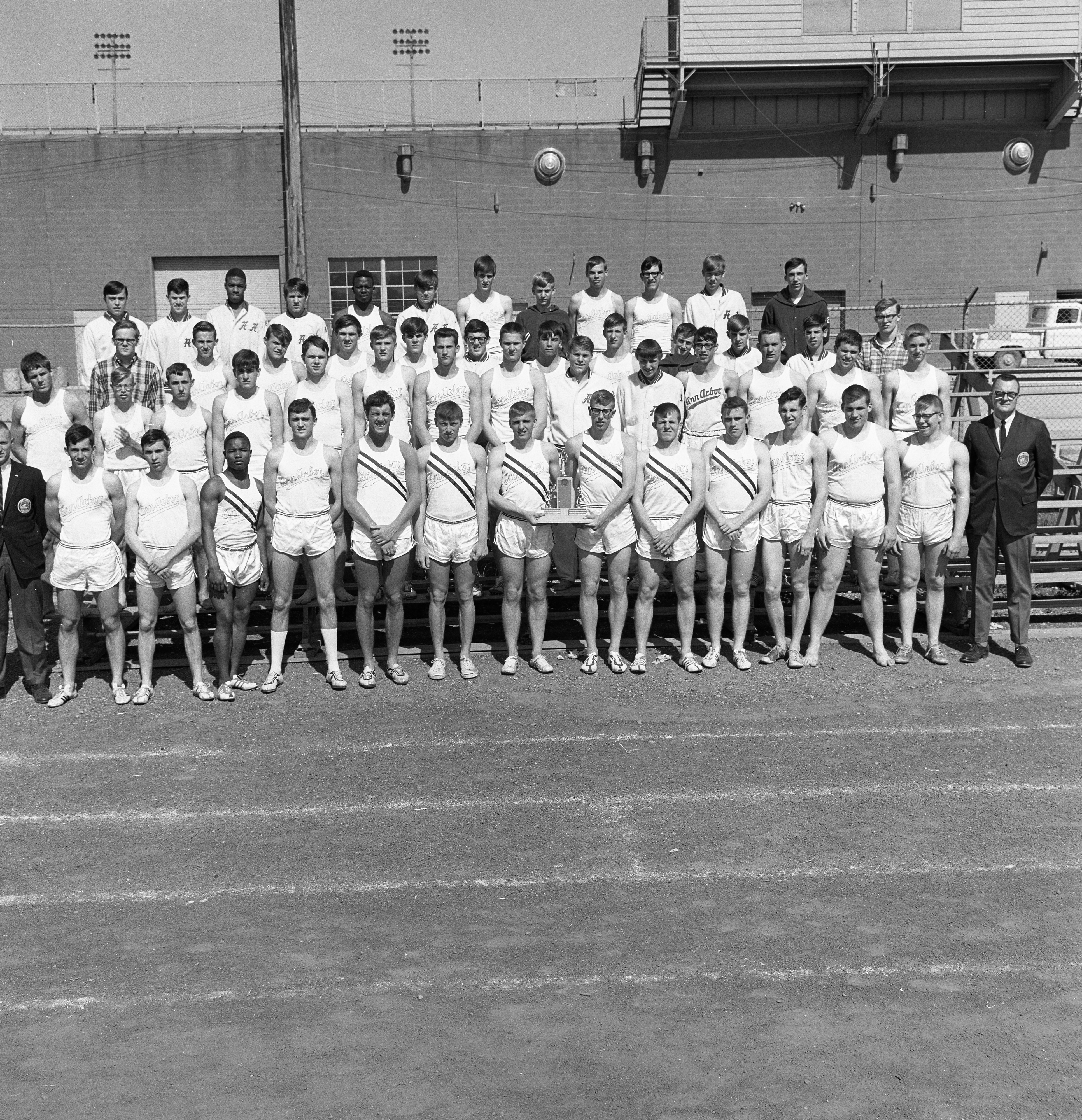 Ann Arbor High School Track Team Six-A League Champions, May 1966 image