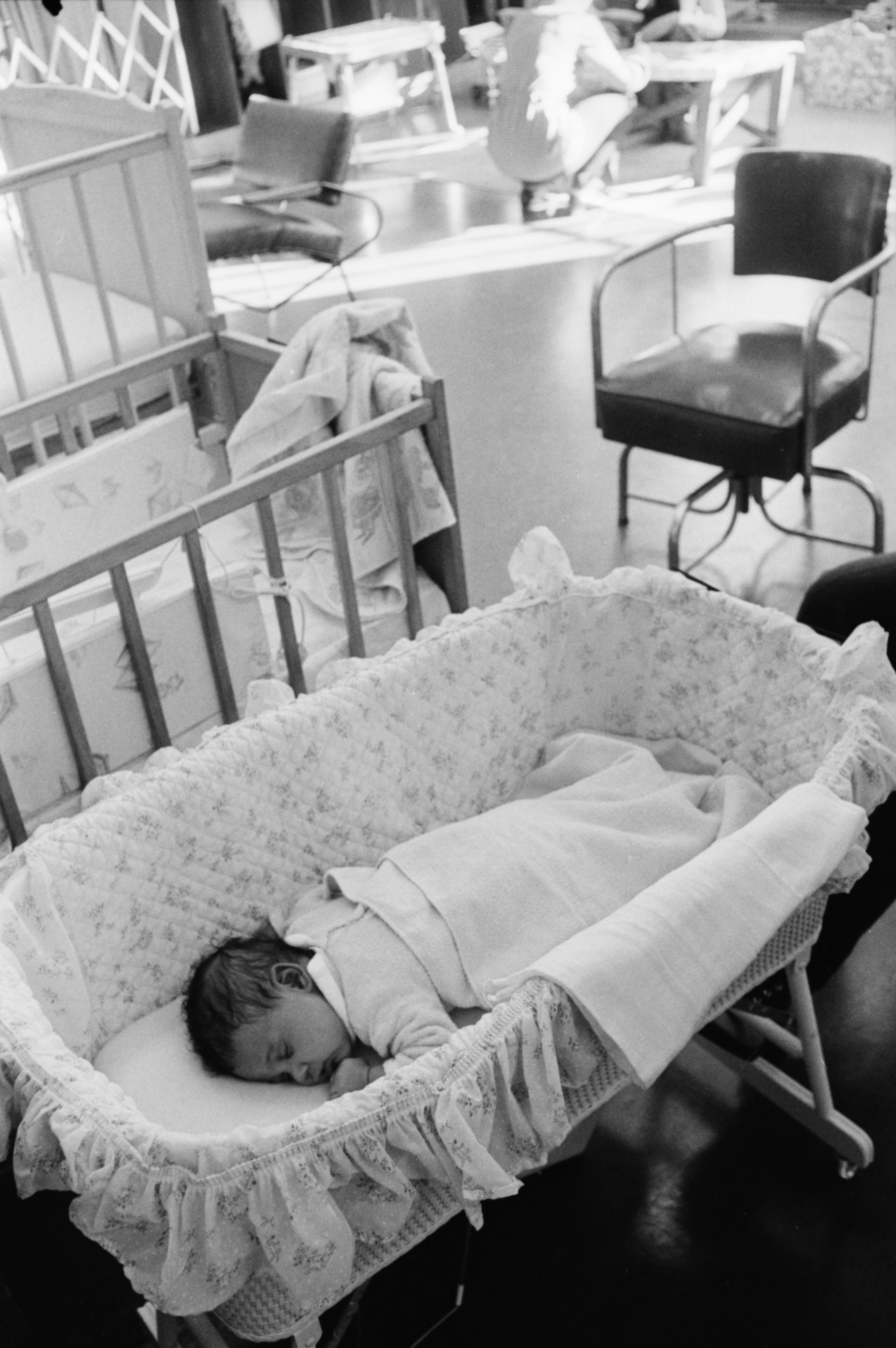 Nap Time at Community High Student-Parent Center for Infants and Toddlers, October 1973 image