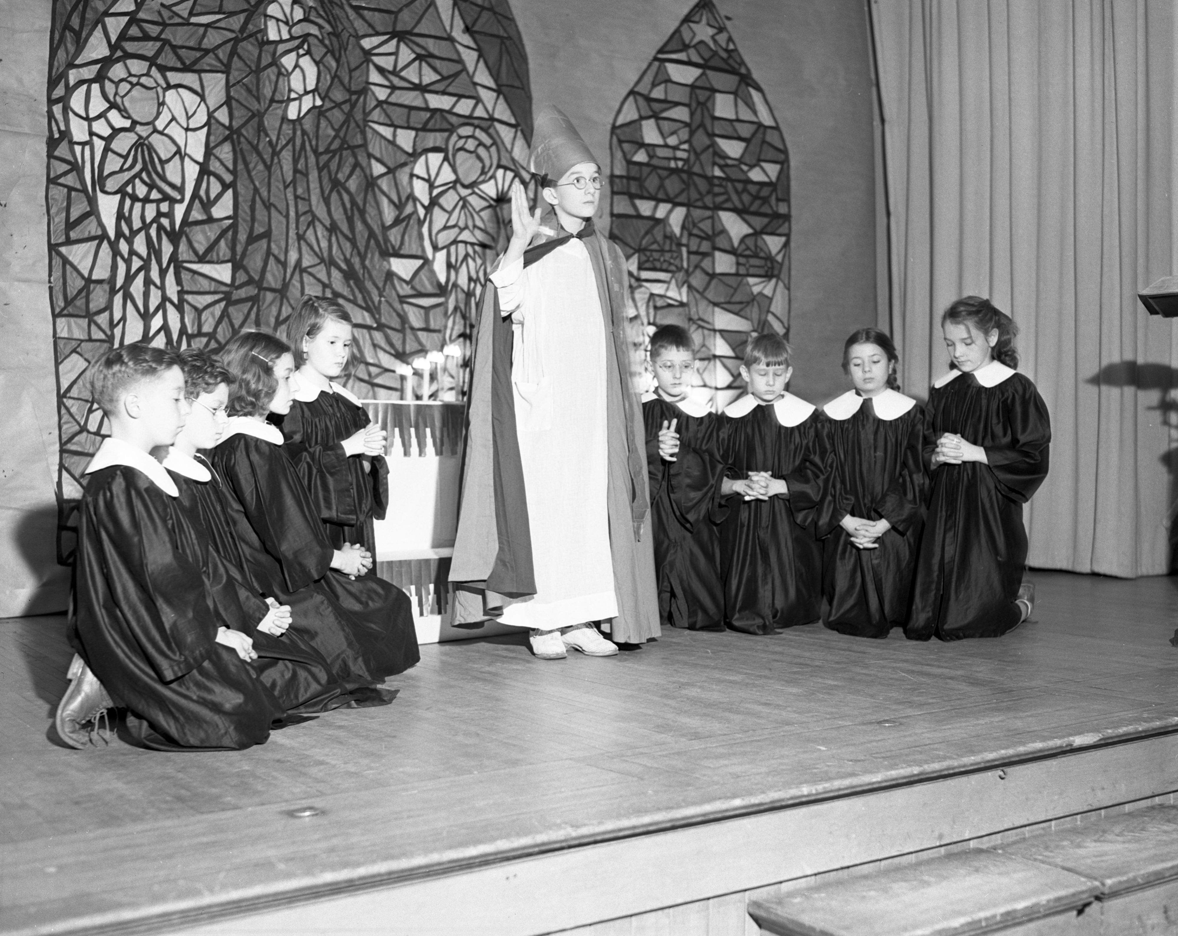 Angell School Christmas Pagent, December 1940 image