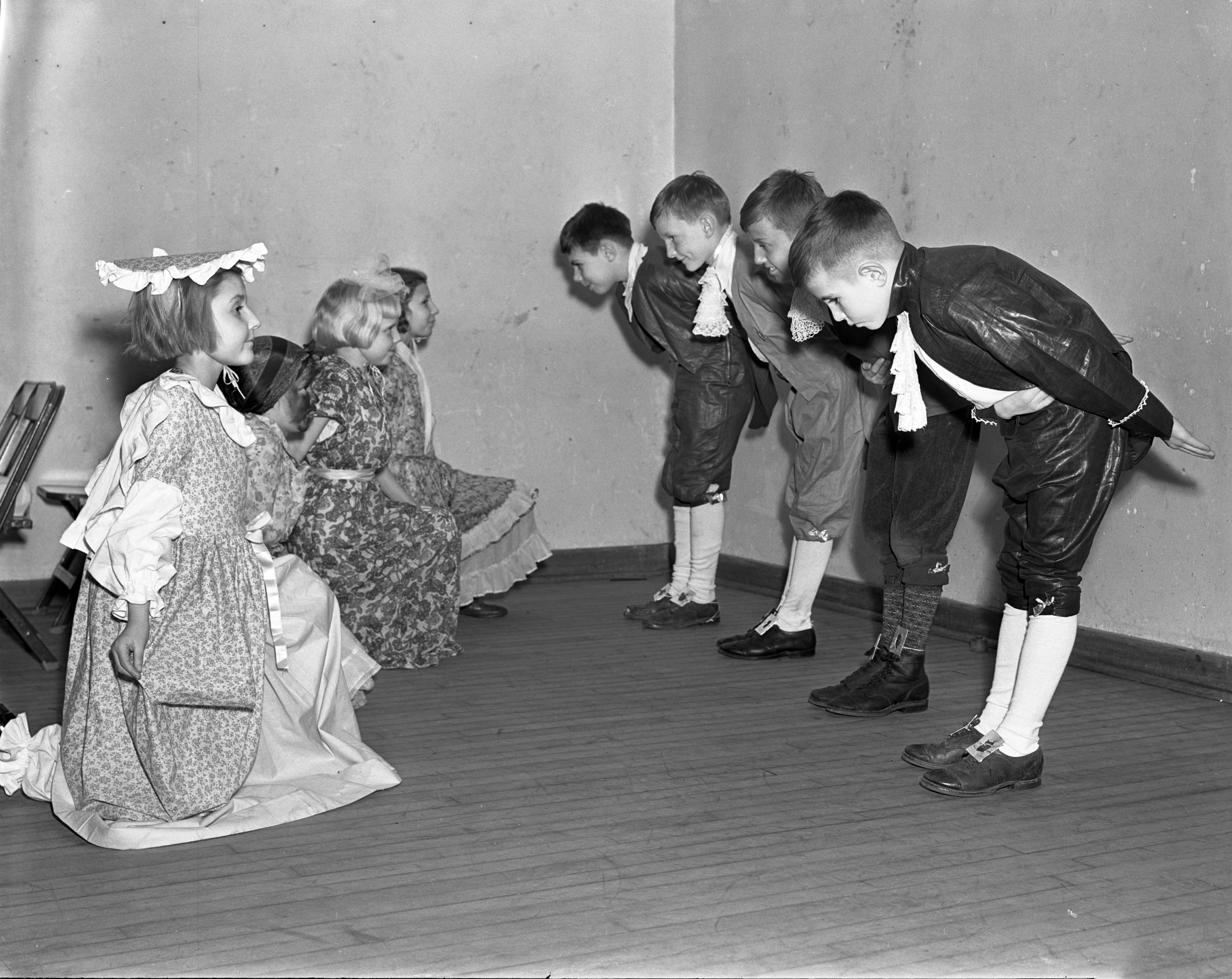 Bach Elementary perform a play about Washington, February 23, 1938 image