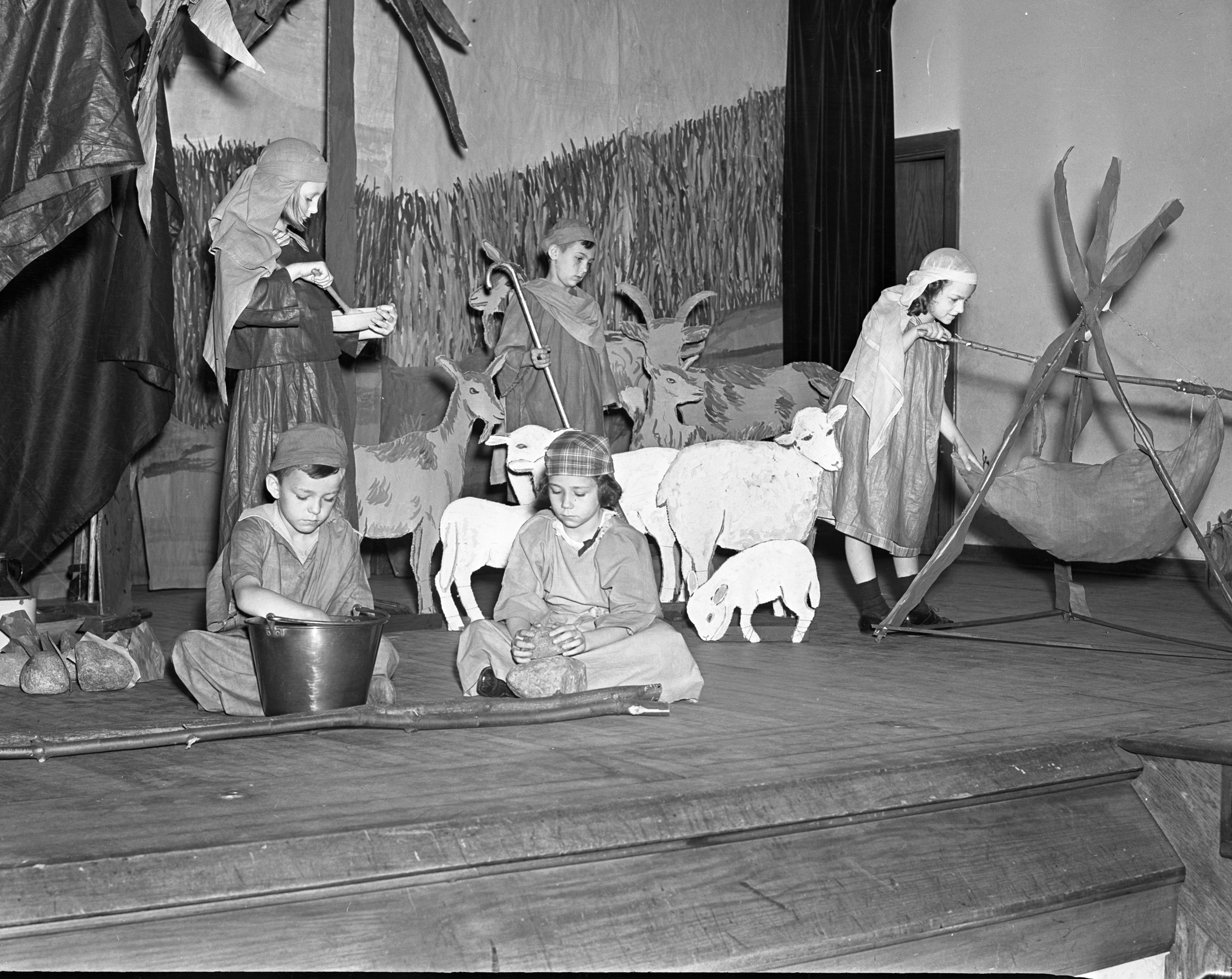 Syrian Nomad Tableau by Bach Elementary School Third Graders, May 1938 image