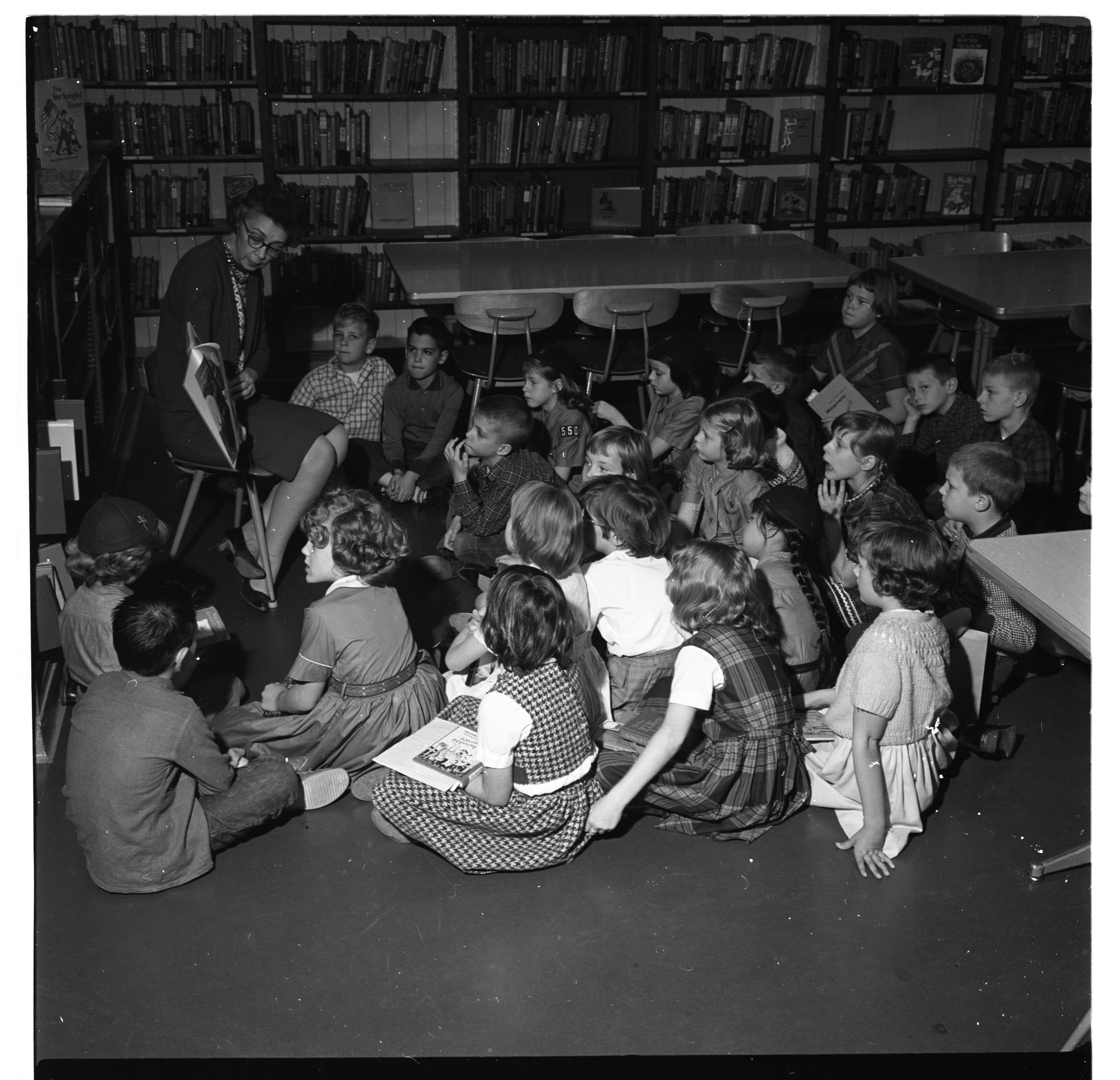 Story-Telling, Bach Elementary School Library, November 1963 image