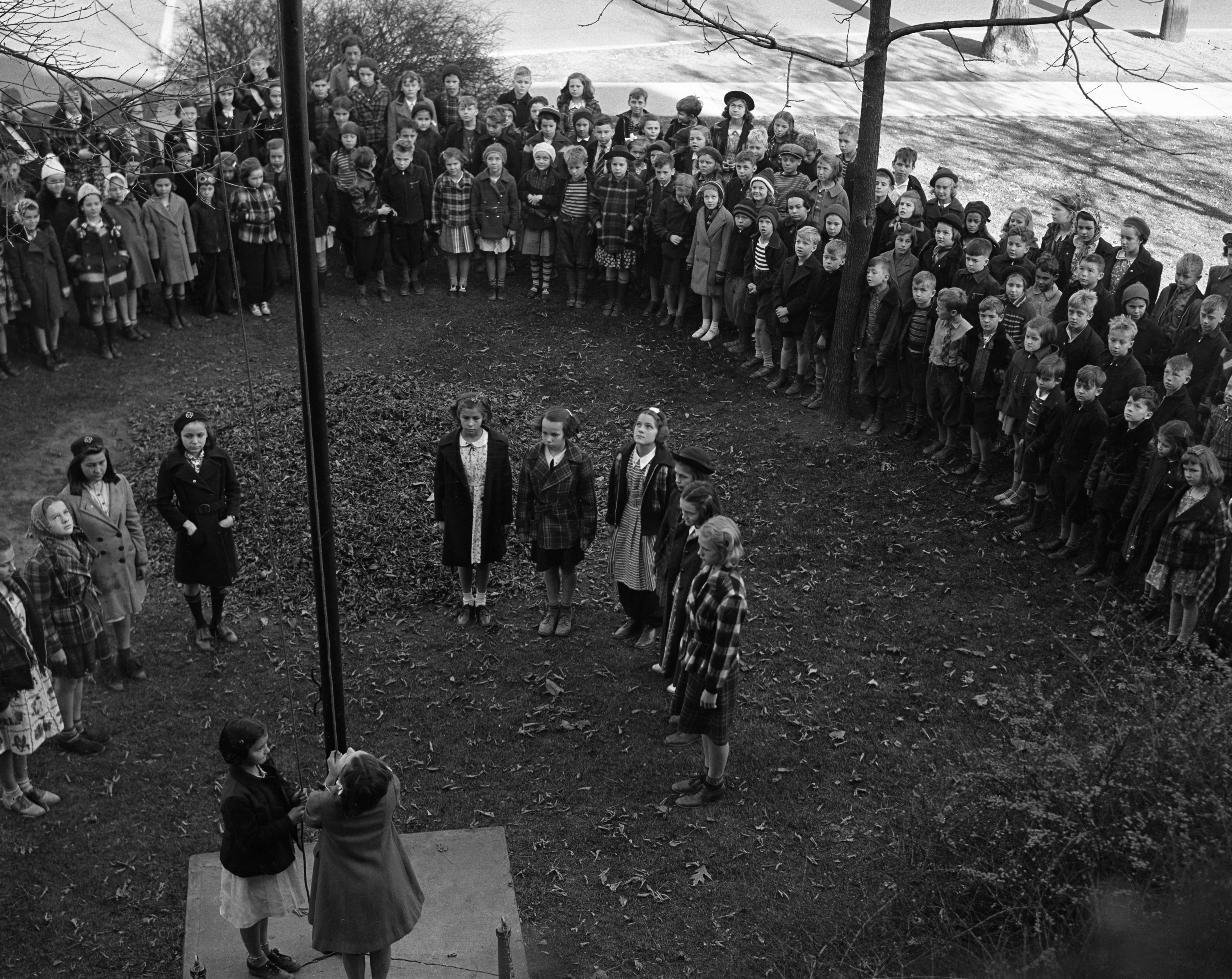 Armistice Day at Eberbach School, 1220 Wells, November 11, 1938 image