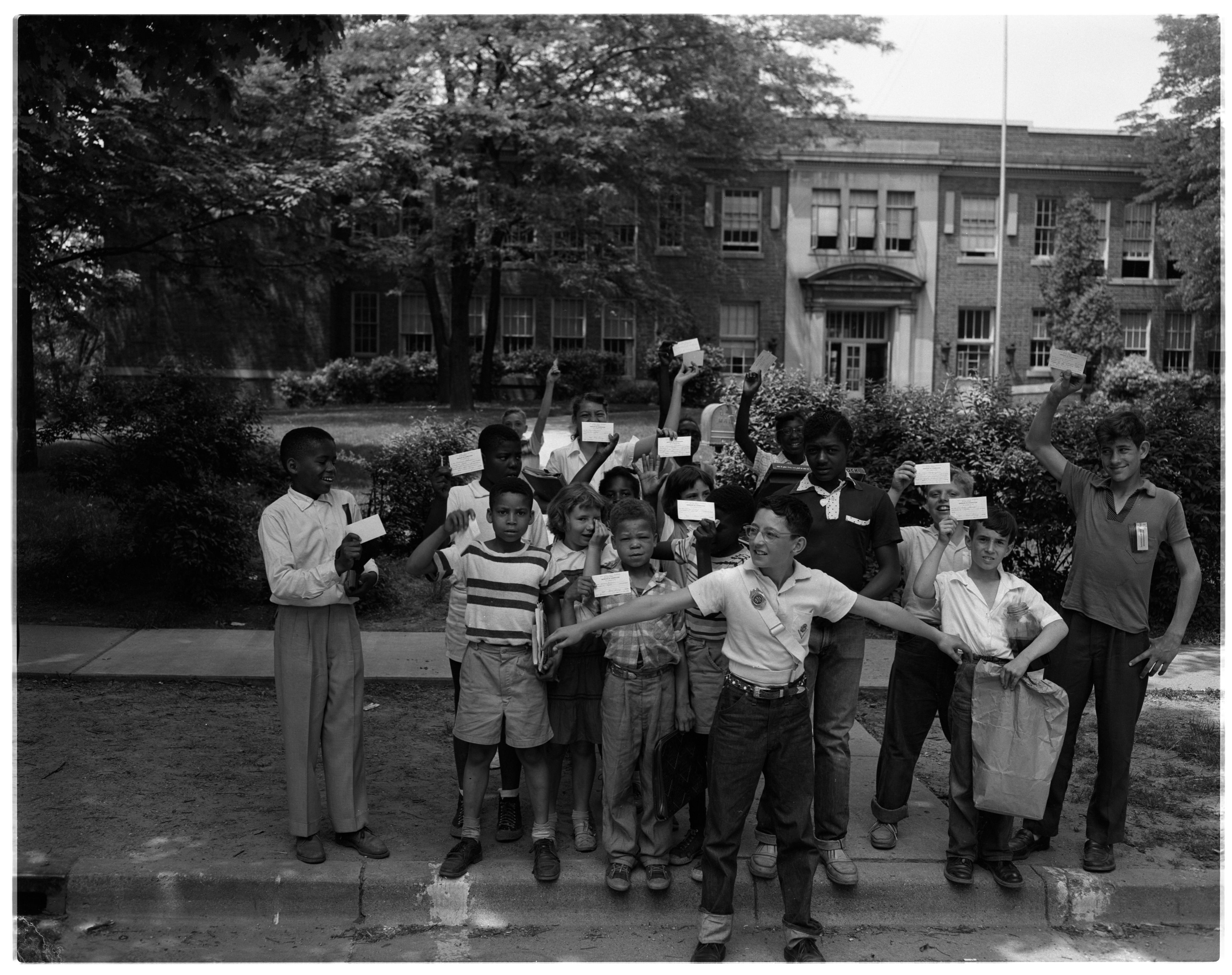 Jones School Students Leave For Summer Vacation, June 1956 image