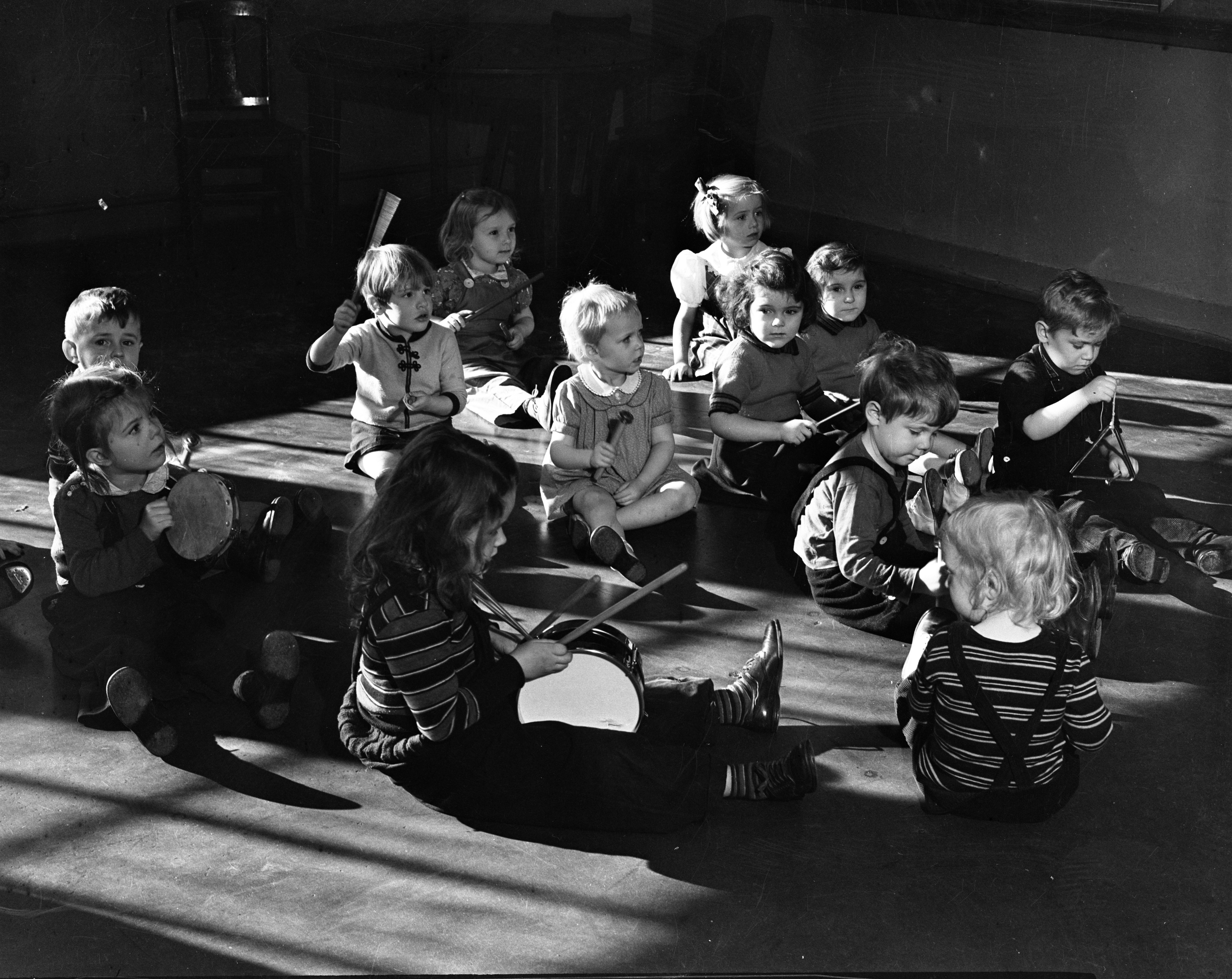 Music Time at Mack Nursery School, January 1939 image