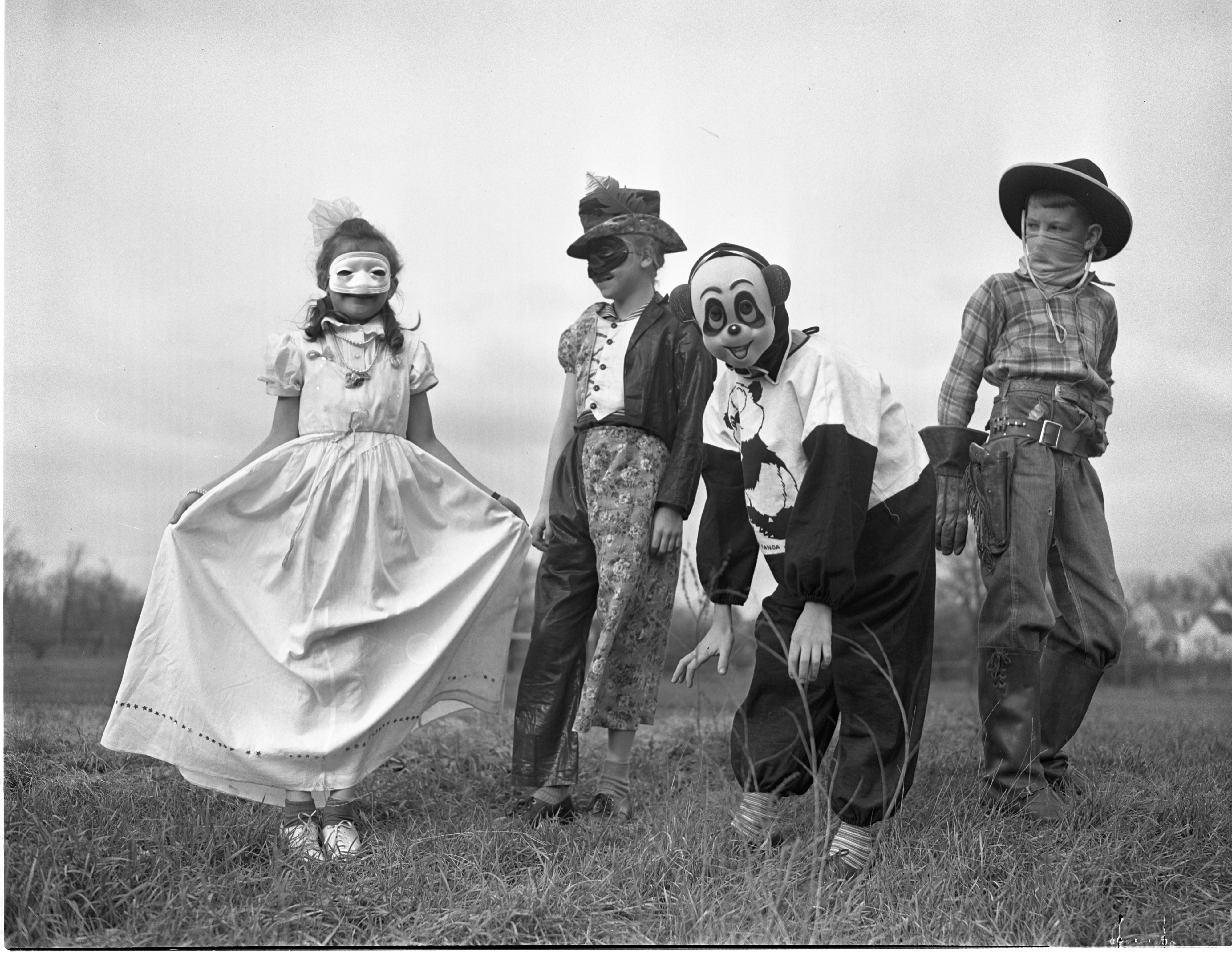 Mack School Students In Halloween Costumes For All-City Party, October 1941 image