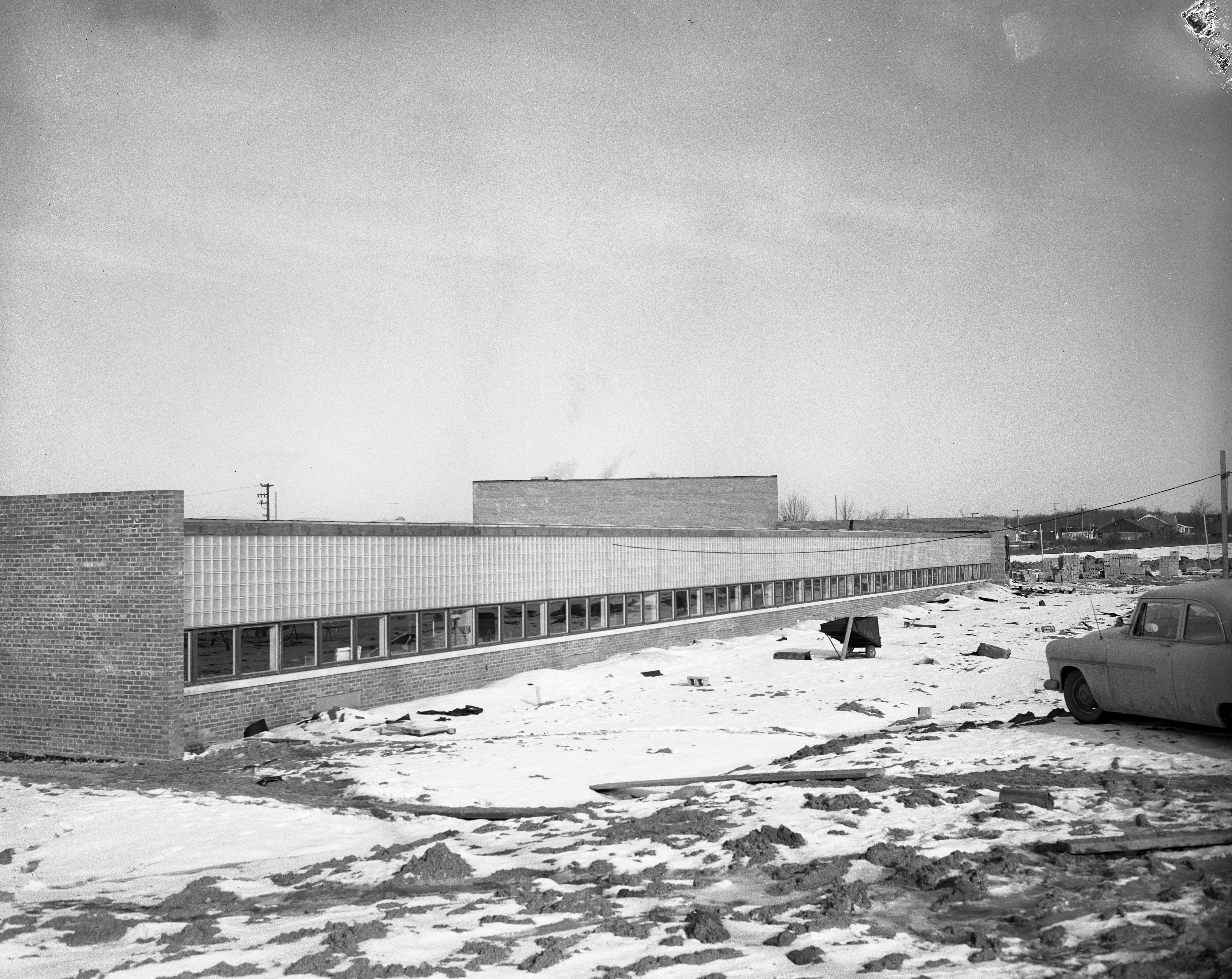 New Judson G. Pattengill School On Ann Arbor's South Side, February 1957 image