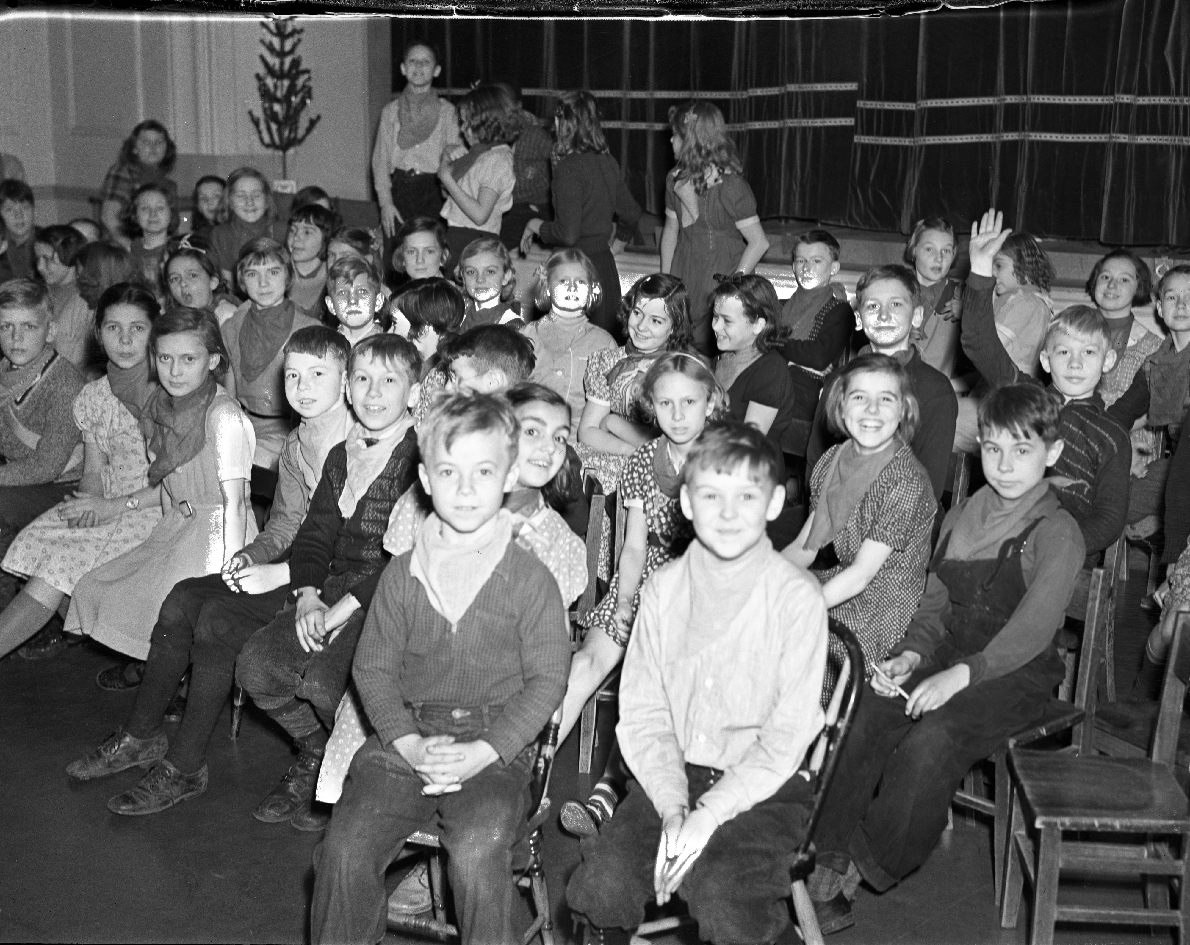 Appreciative Audience at Perry School Christmas Play, December 1937 image