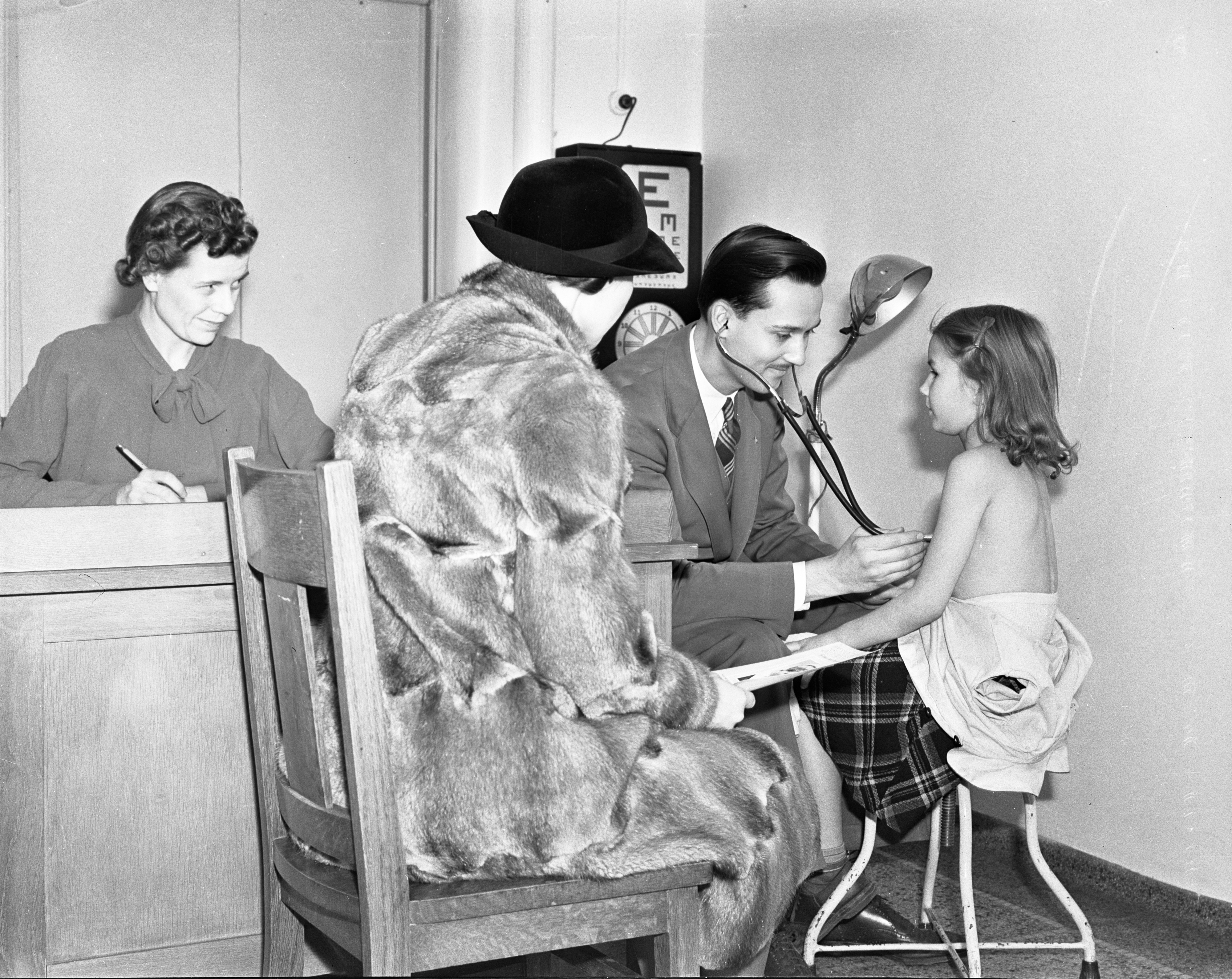 Perry School Health Center Student Health Exam, December 1938 image